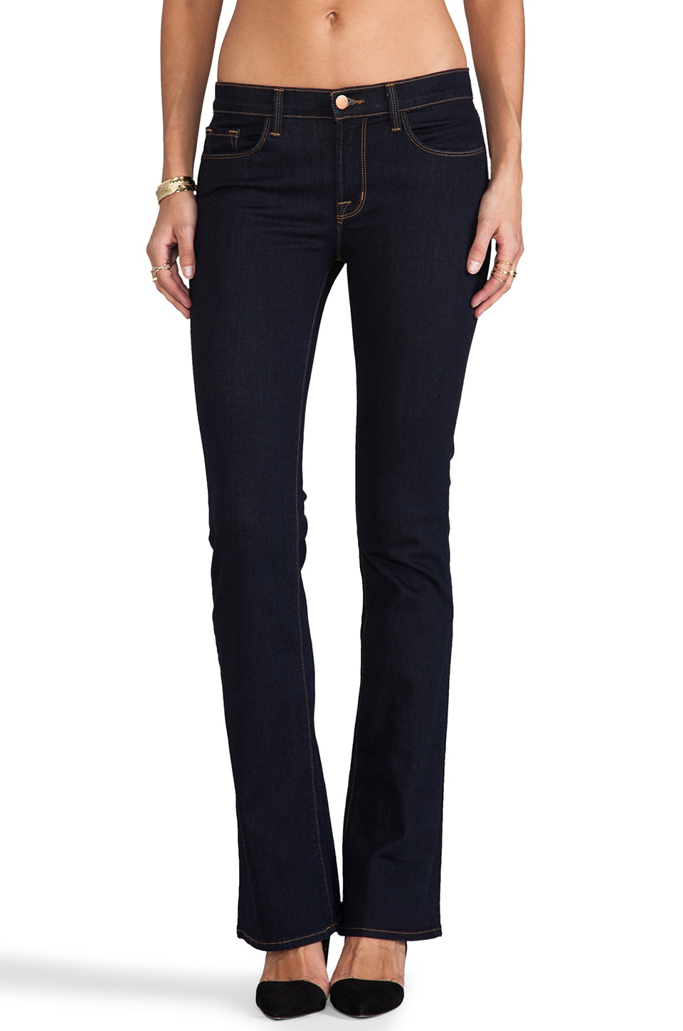 J Brand Brooke Skinny Boot in Starless