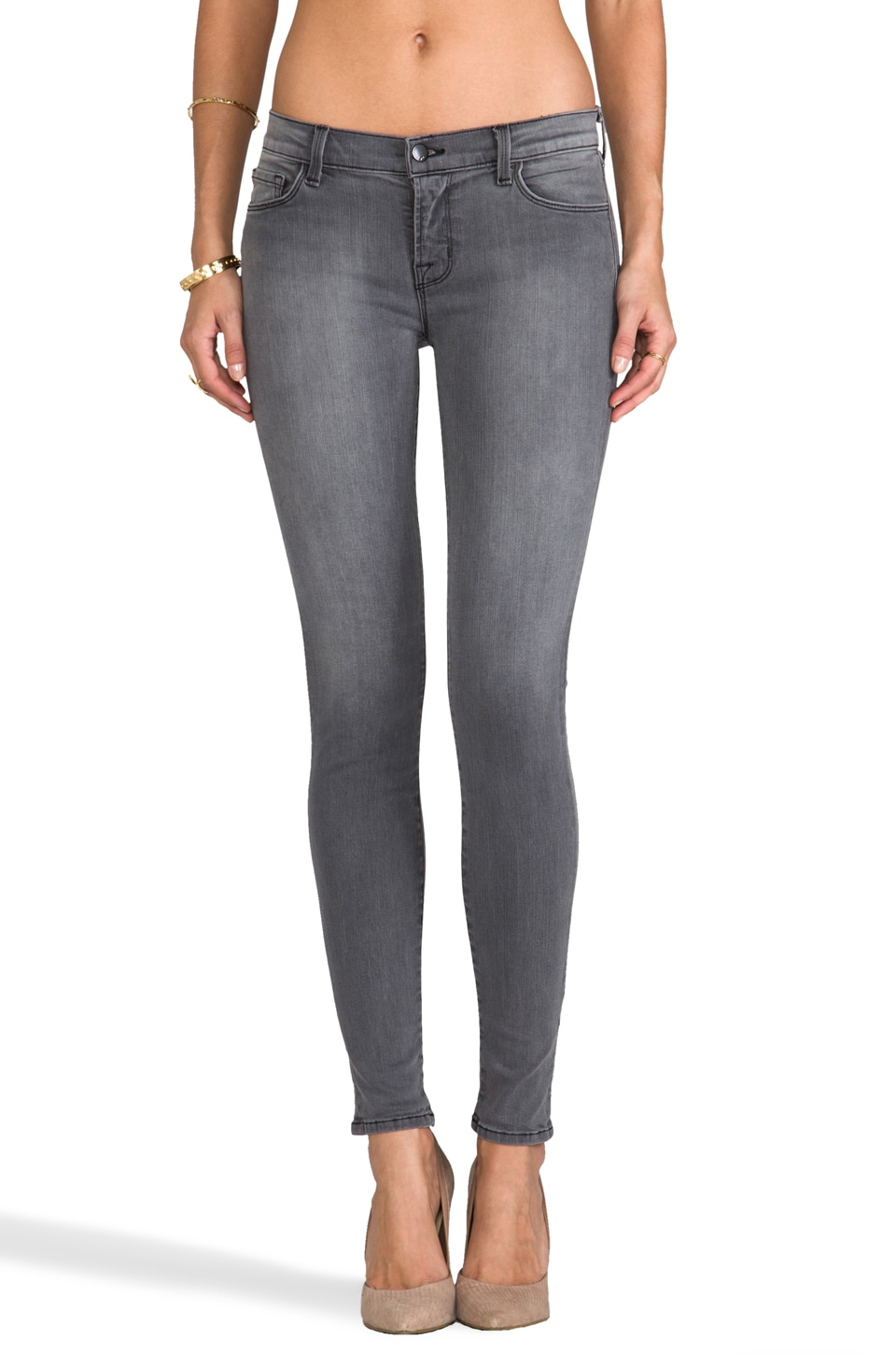 J Brand Low Rise Skinny in Onyx