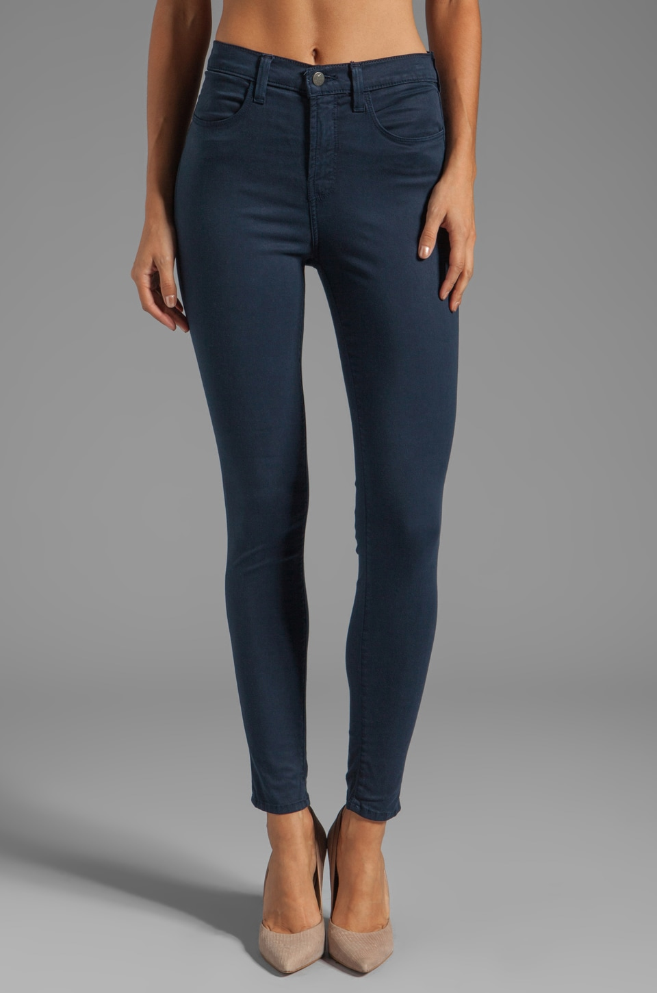 J Brand Marja Highrise Skinny in Carbon Blue