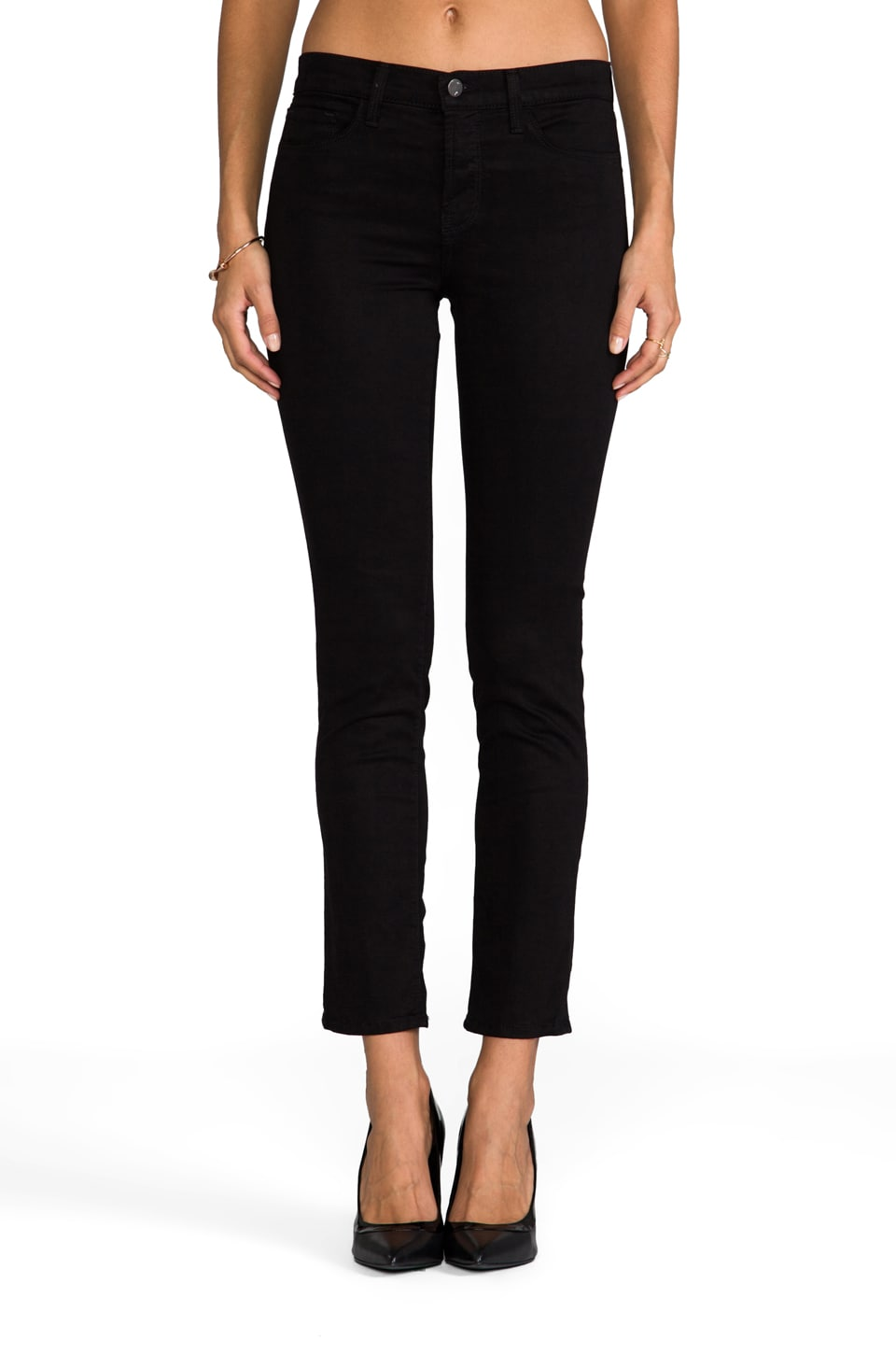 J Brand Petite Midrise Rail in Black