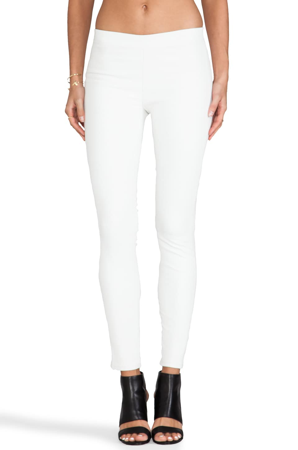 J Brand Pull On Leather in Ghost White