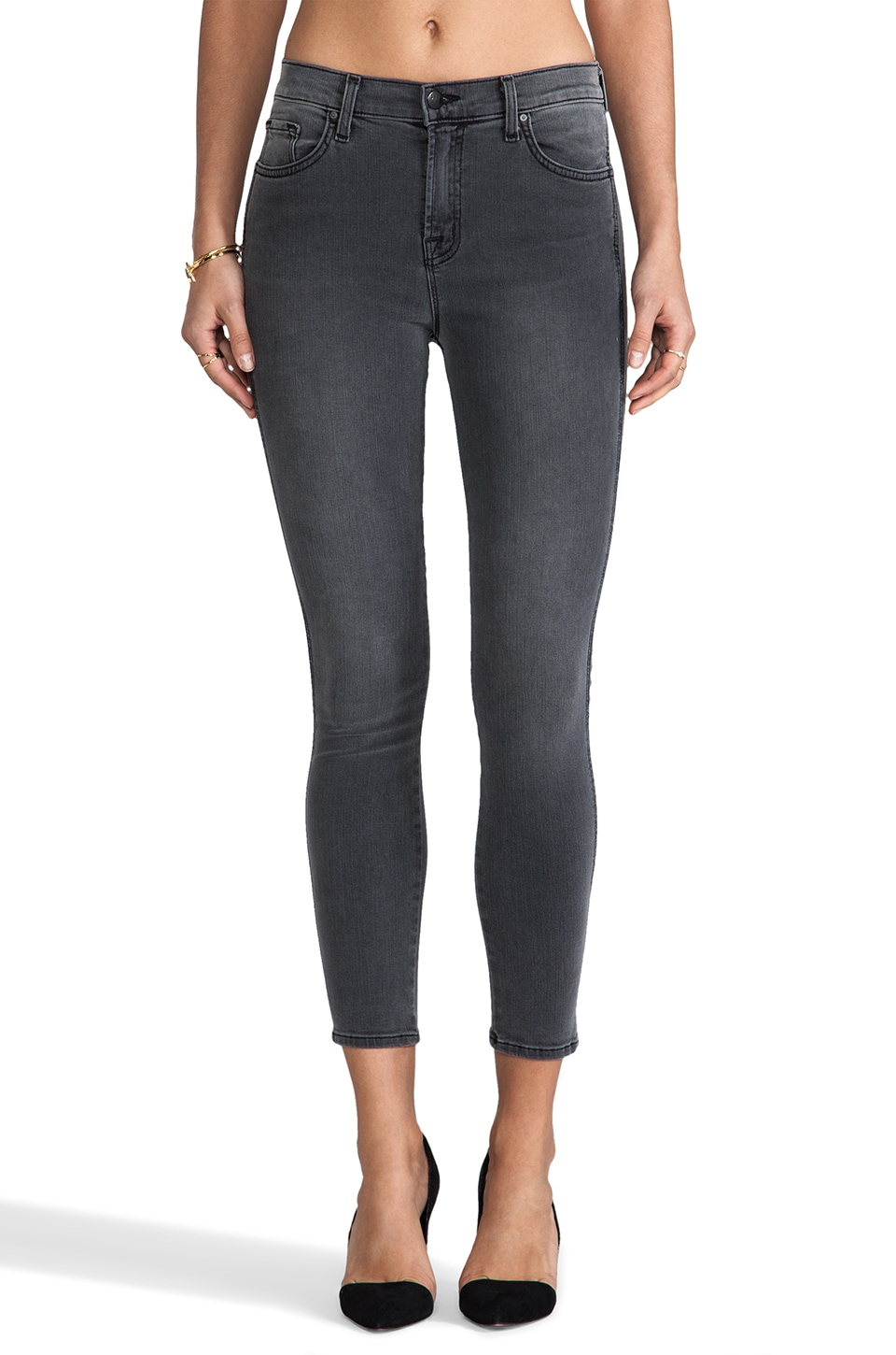 J Brand Bree High Rise Crop in Nightbird