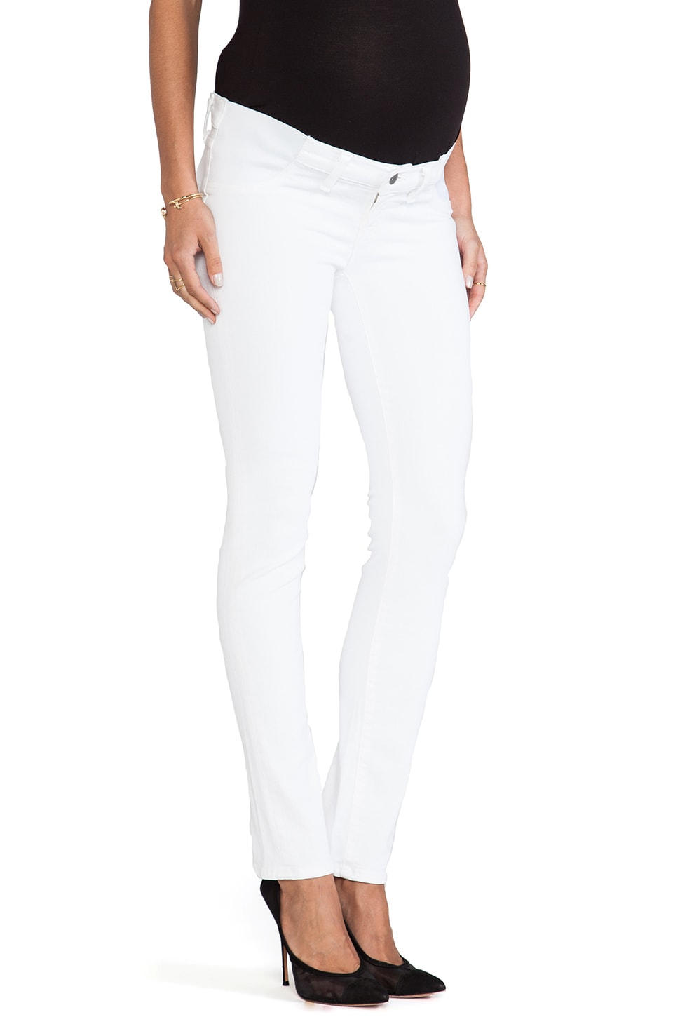 J Brand Maternity Optic White Skinny in Blanc