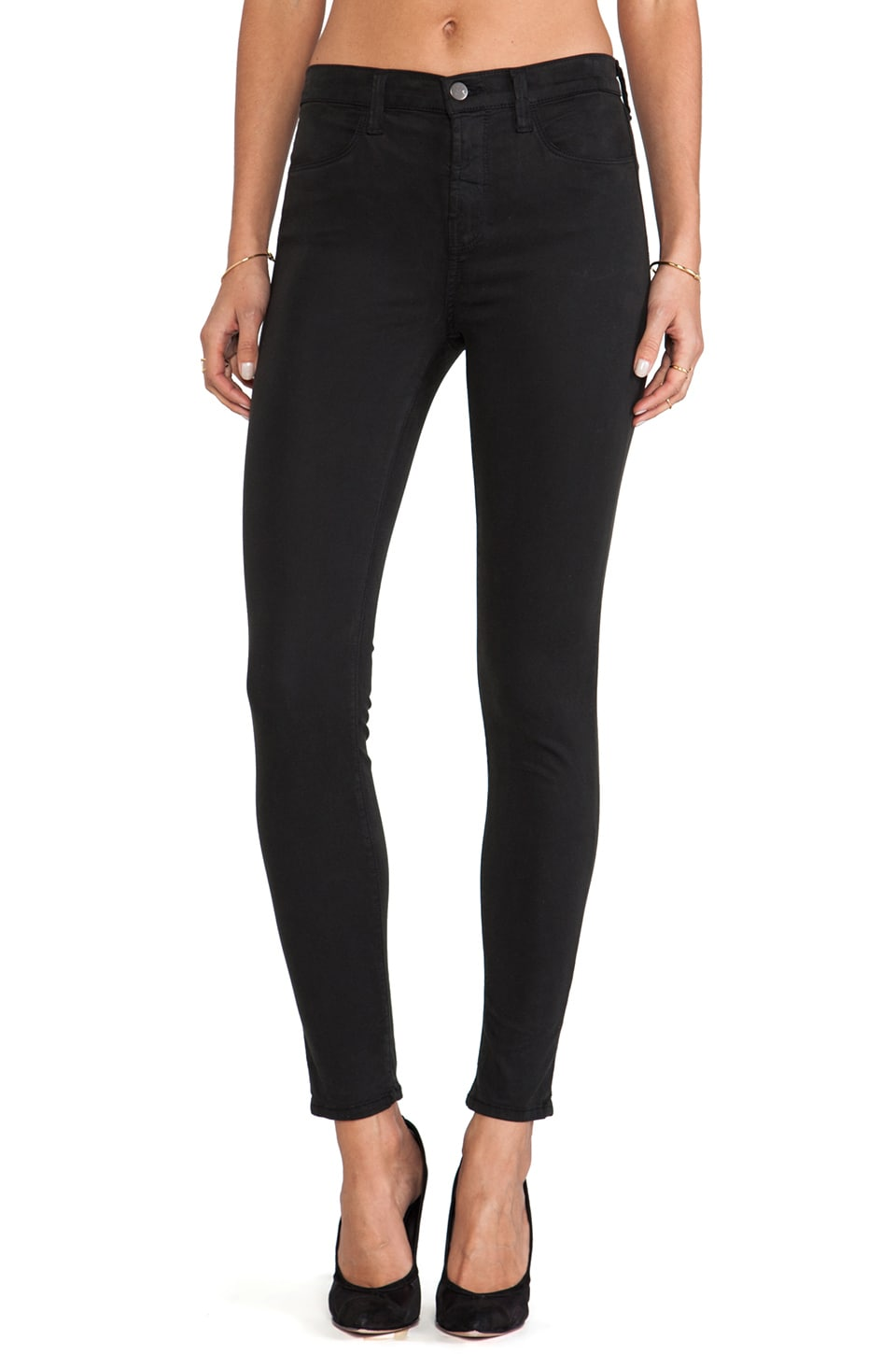 J Brand High Rise Skinny in Jet Set