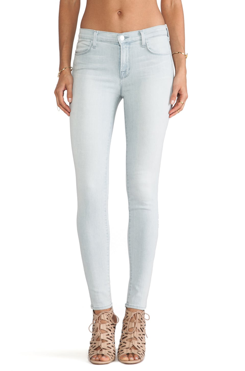 J Brand Mid Rise Skinny in Intuition