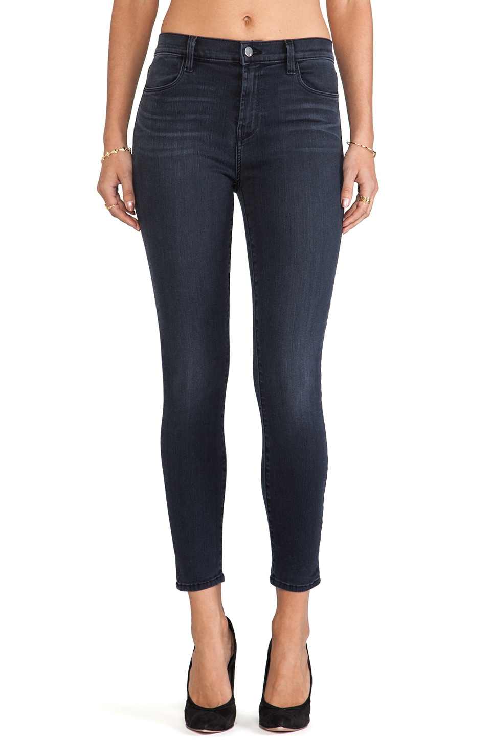 J Brand Alana High Rise Crop in Mystery