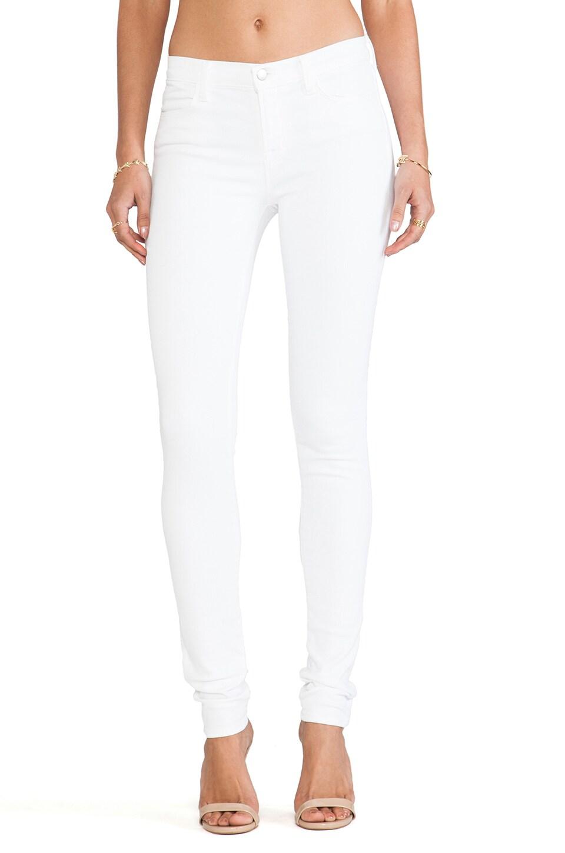 J Brand Mid Rise Super Skinny in Blanc