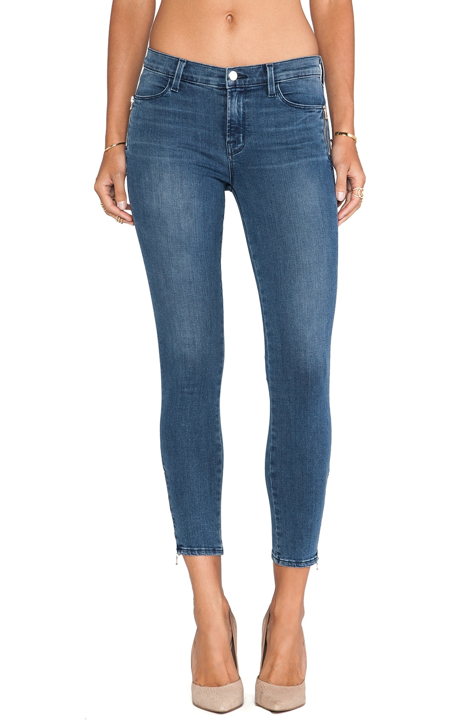 J Brand Tali Zip Skinny in Rumor