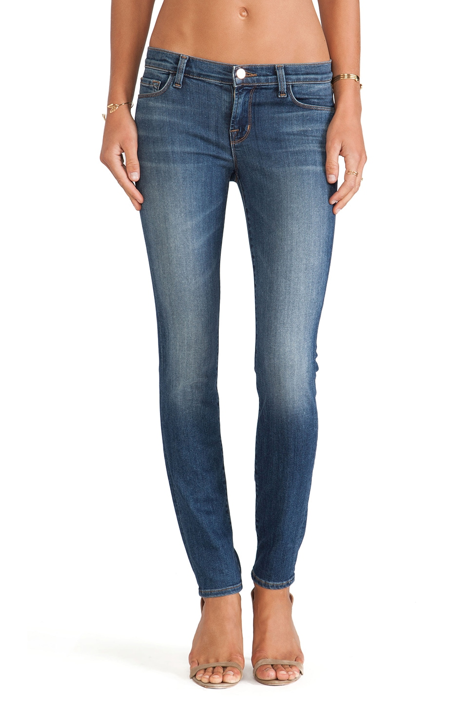 J Brand Mid Rise Super Skinny in Lucent