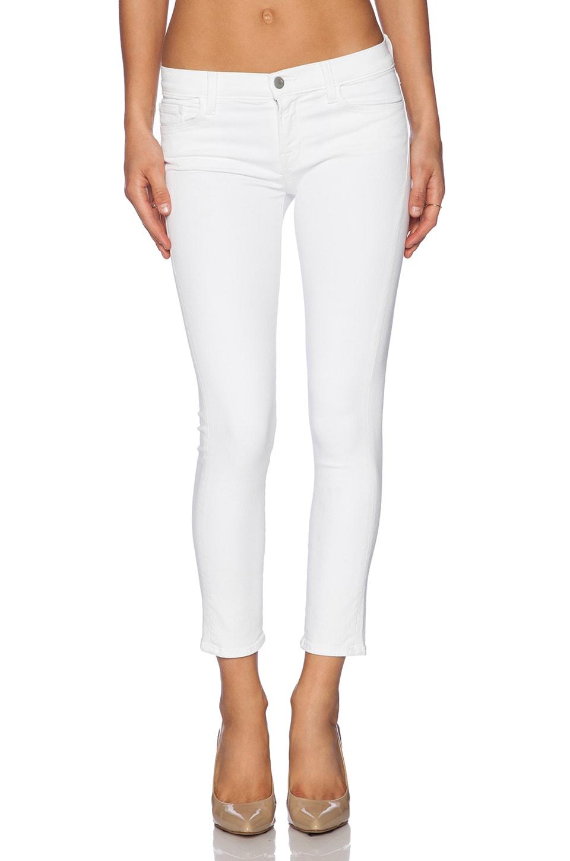 J Brand Mid Rise Skinny in Blanc