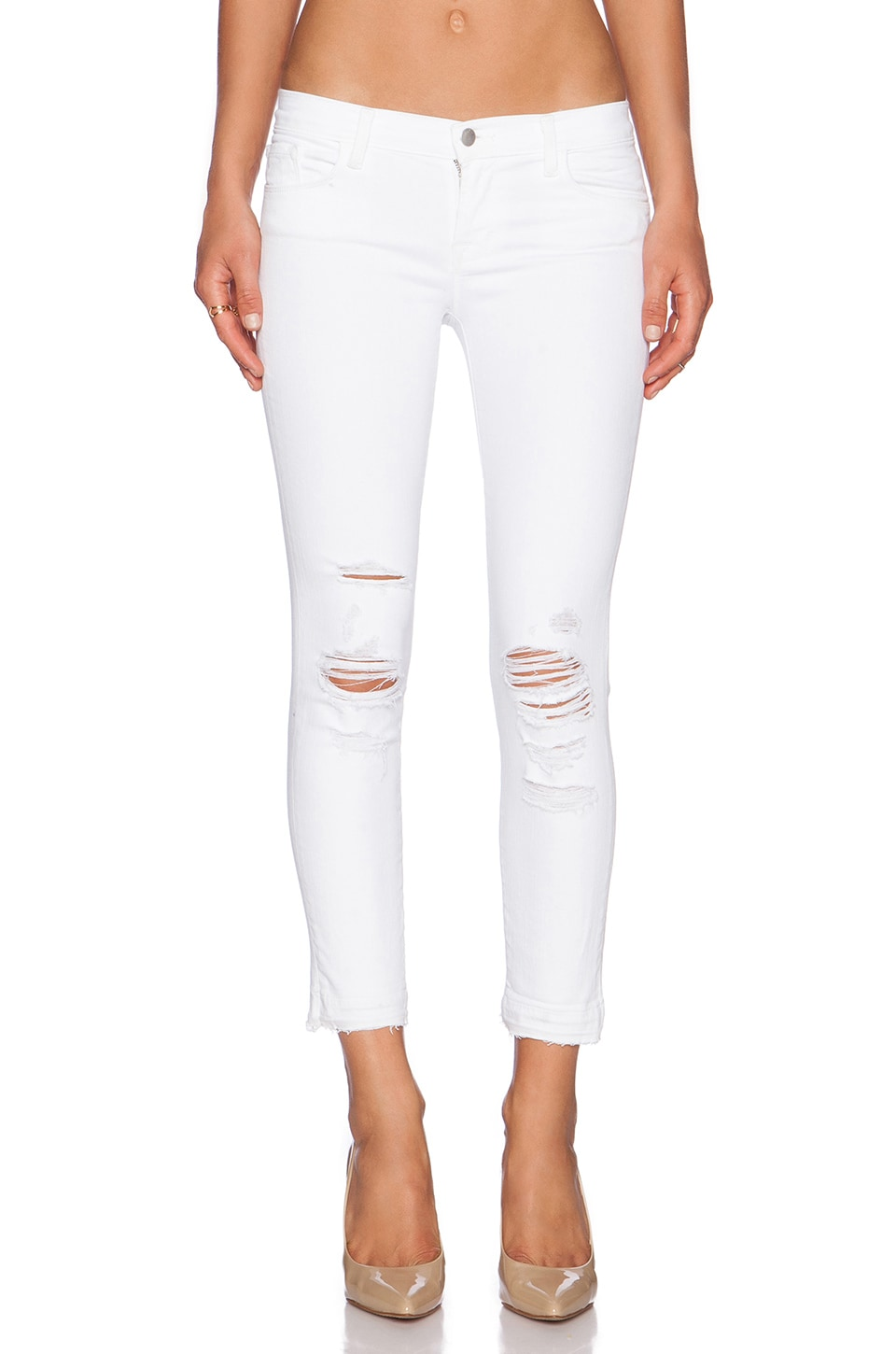 J Brand Low Rise Crop in Demented
