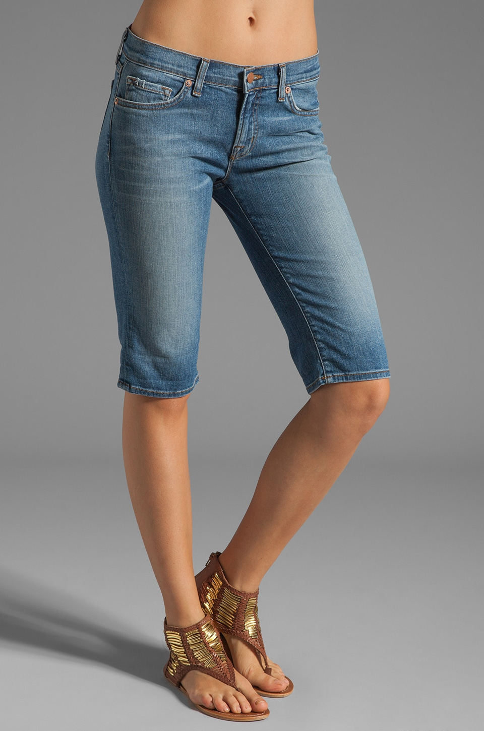 J Brand Knee Cuff Short in Bliss