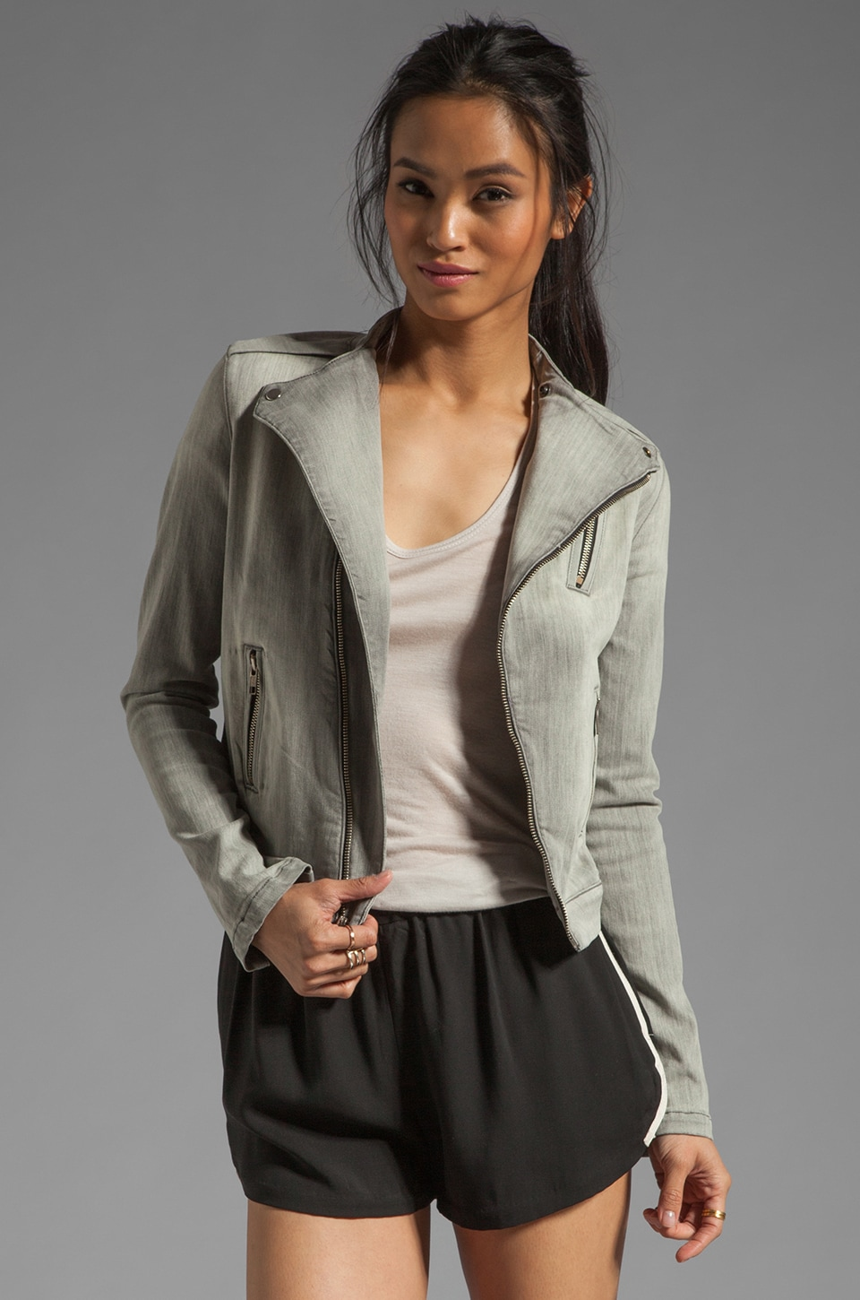 J Brand Moto Jacket in Lunar