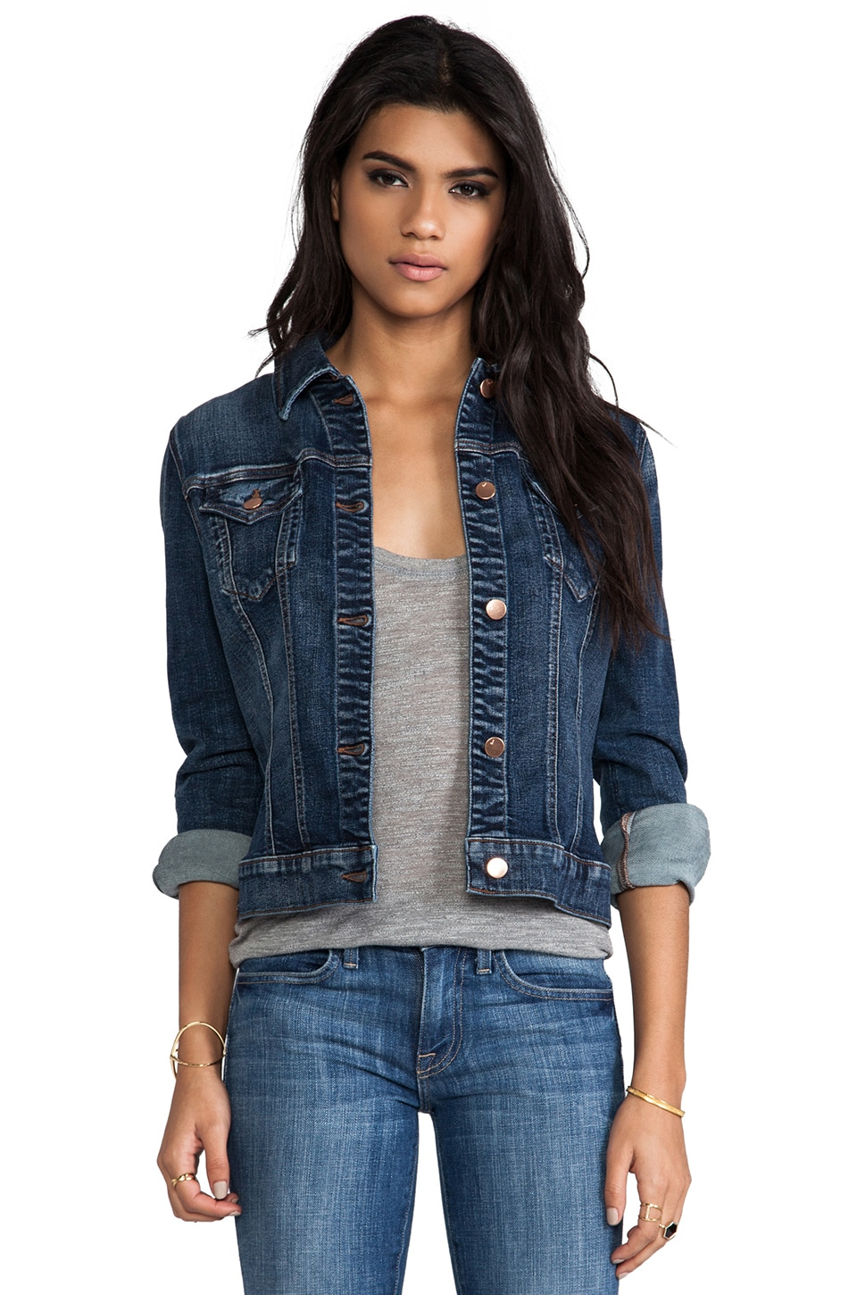 J Brand Distress Jacket in Devotion