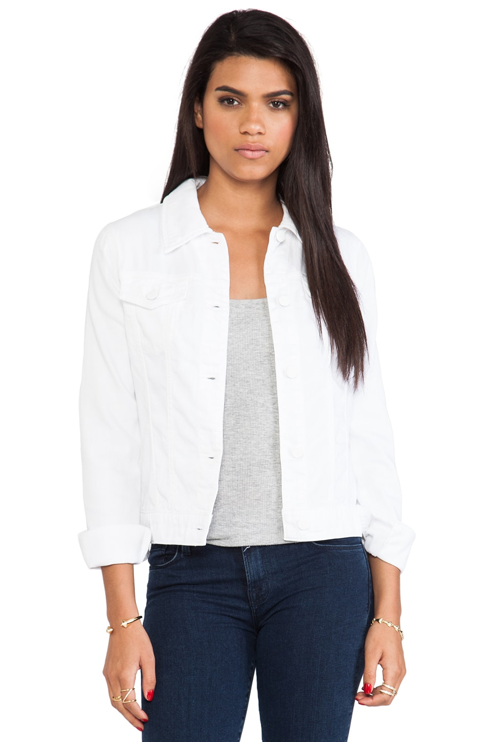 J Brand Jacket in Pure White