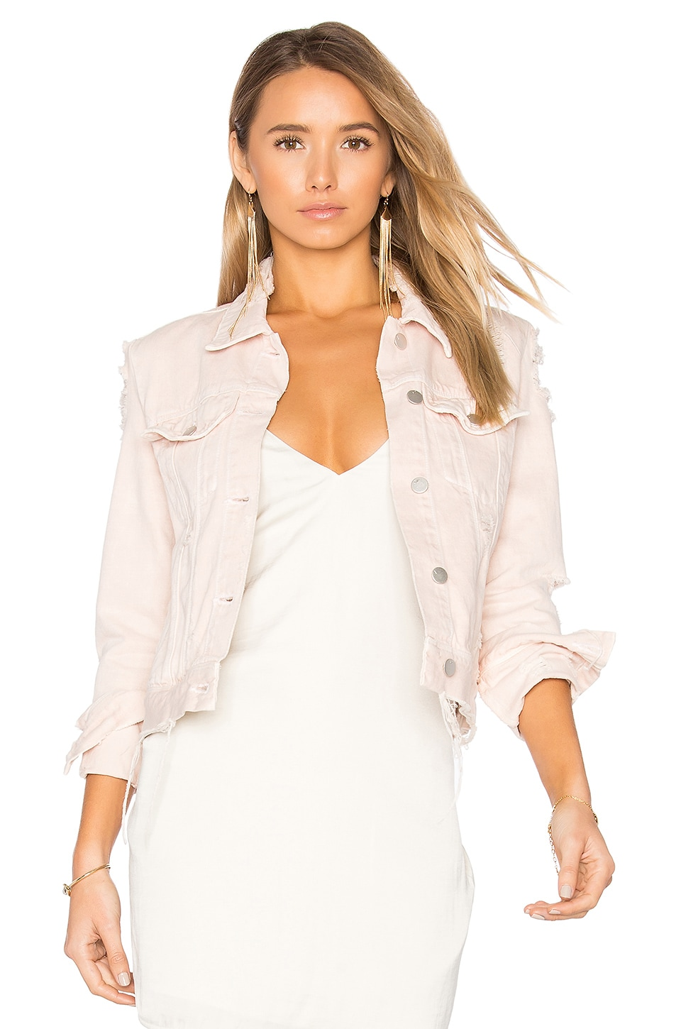 Harlow Distressed Jacket by J Brand