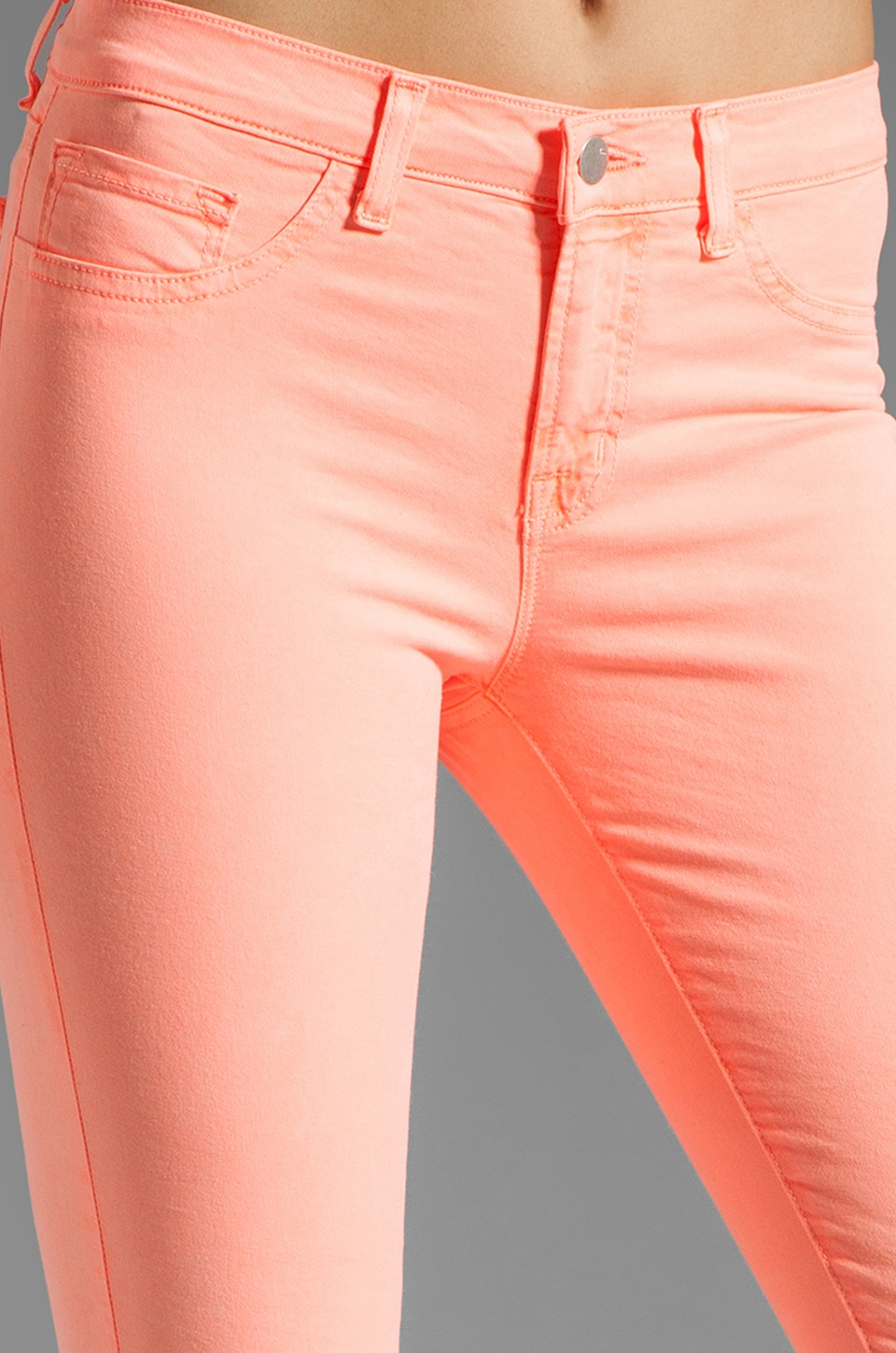 J Brand Twill Skinny in Neon Coral
