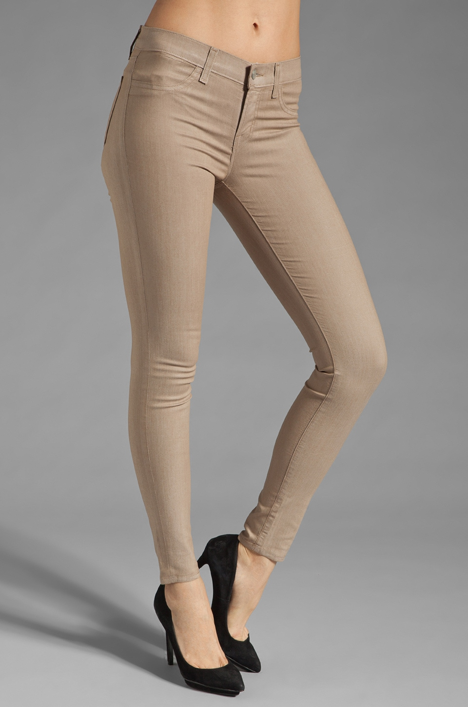 J Brand Low Rise Coated Legging in Coated Kenya