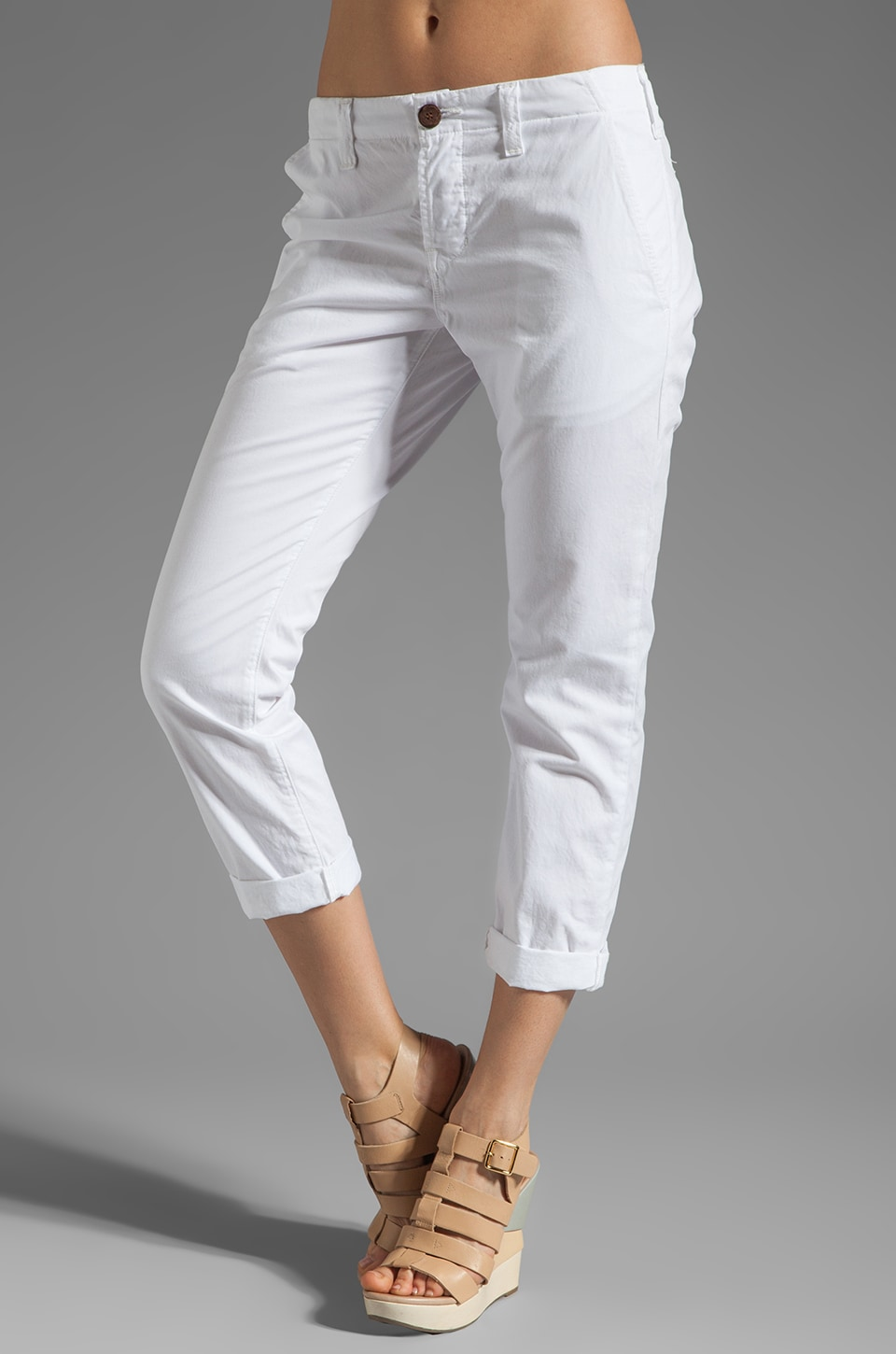 J Brand Fitted Chino in White
