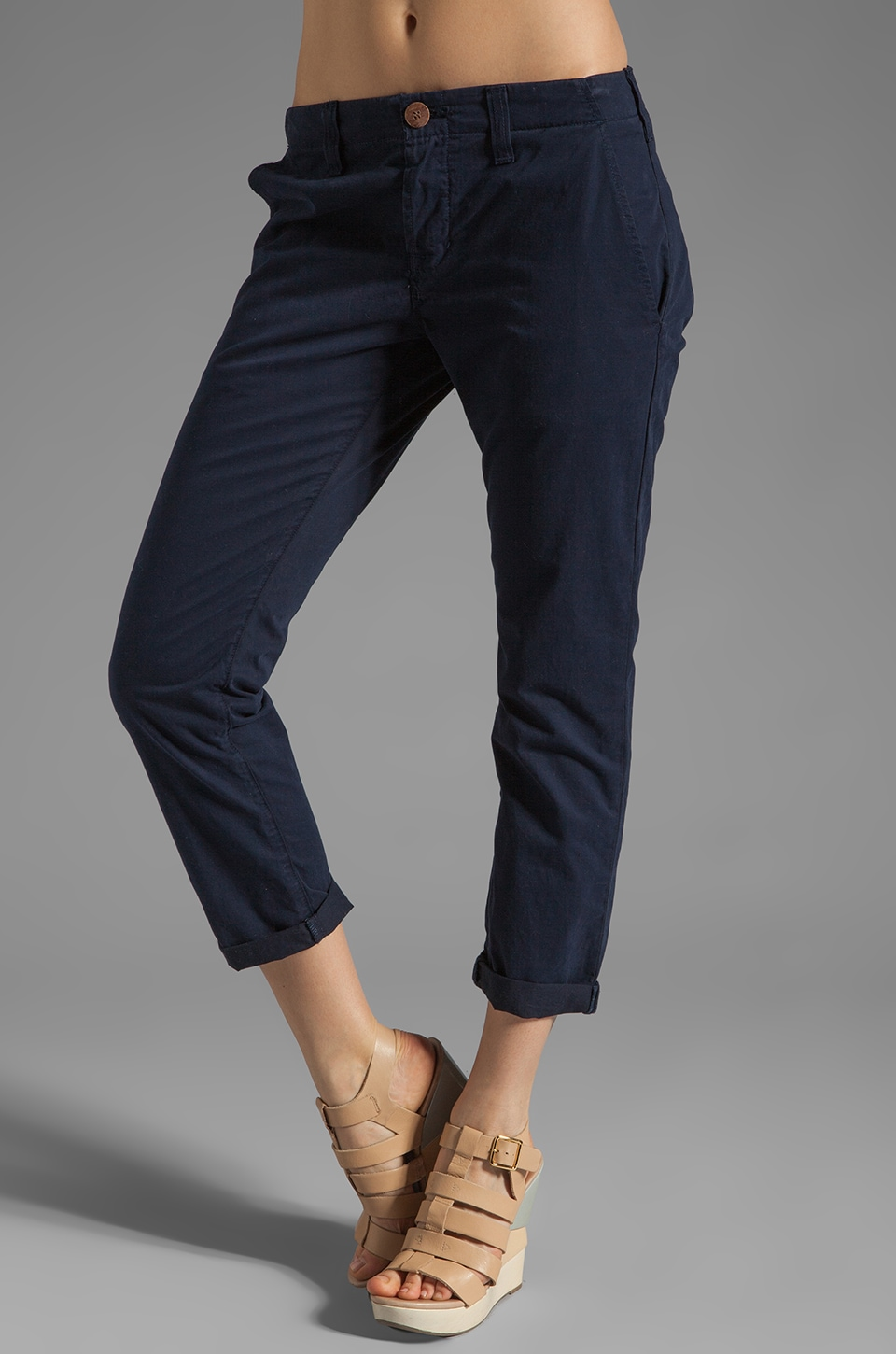 J Brand Fitted Chino in Nautical Blue