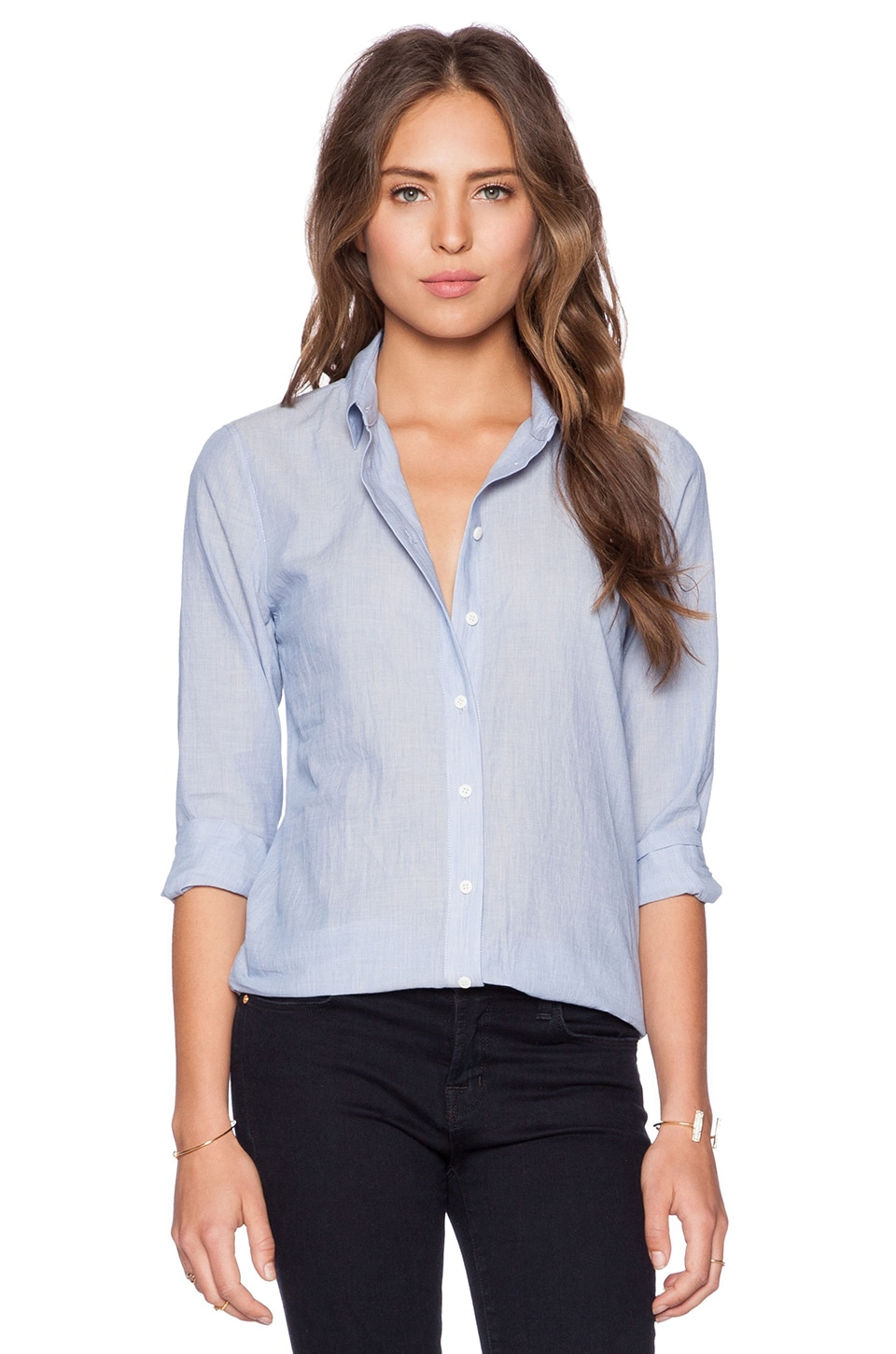 J Brand Venice Blouse in Porcelain Blue
