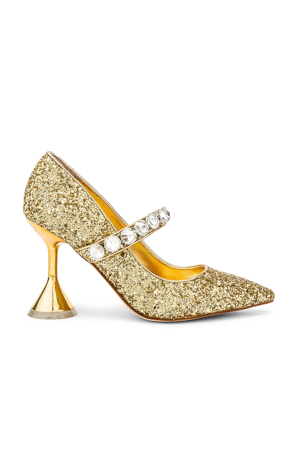 Jeffrey Campbell Perlah Heel in Gold Glitter