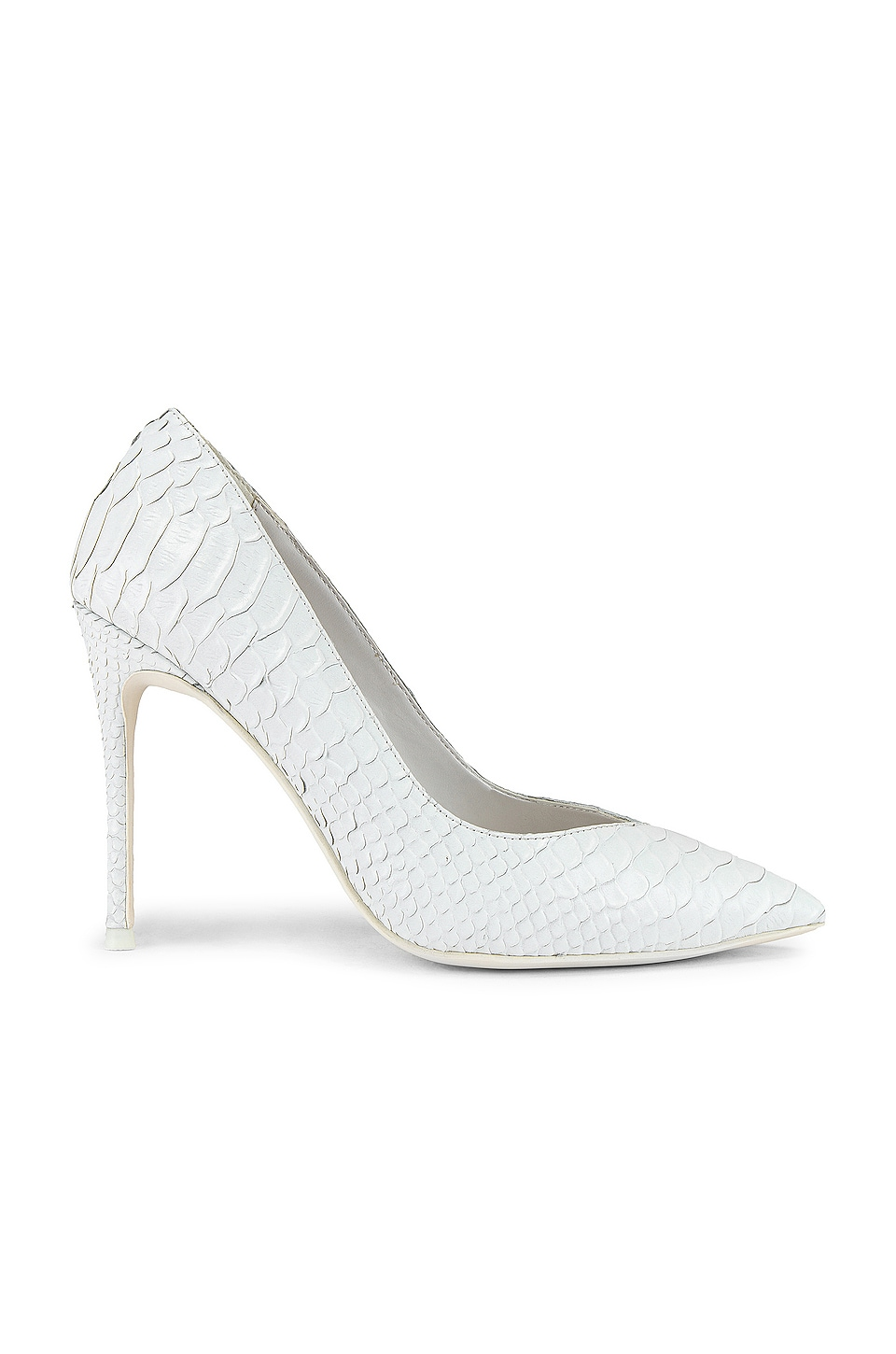 Jeffrey Campbell Lure Heel in White Matte Snake