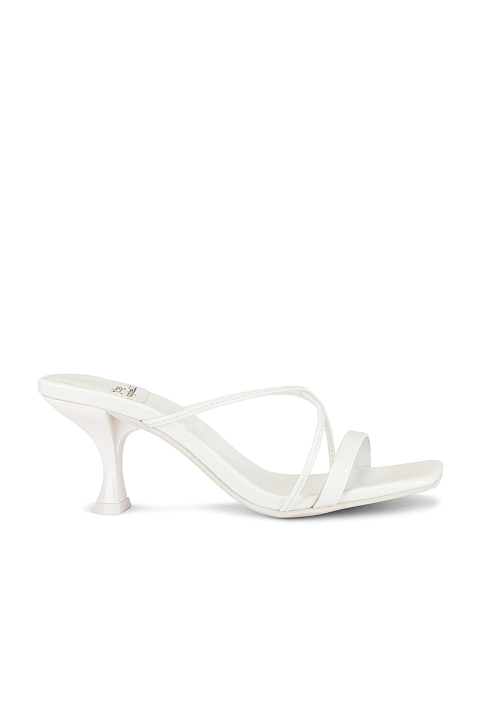 Jeffrey Campbell Mural Mule im White Patent