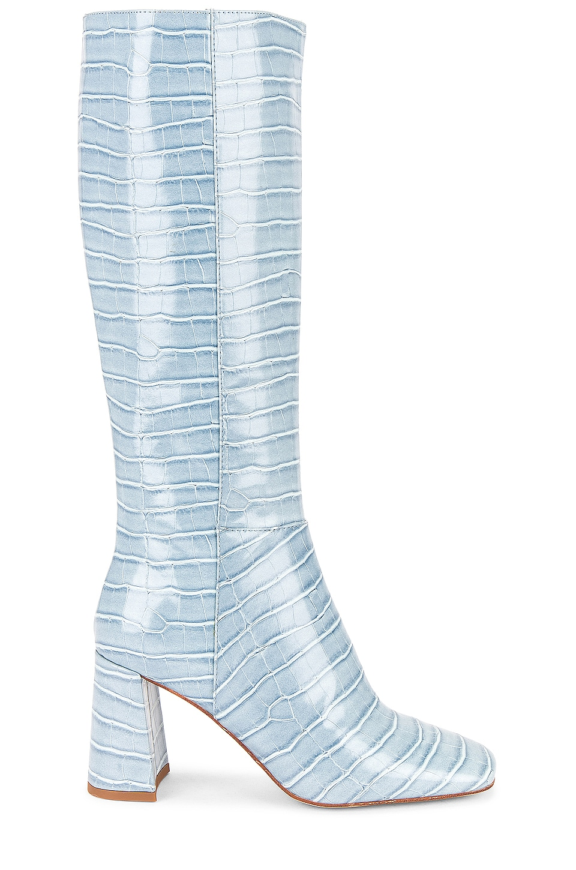 Jeffrey Campbell Patti Kh Boot in Light Blue Croco
