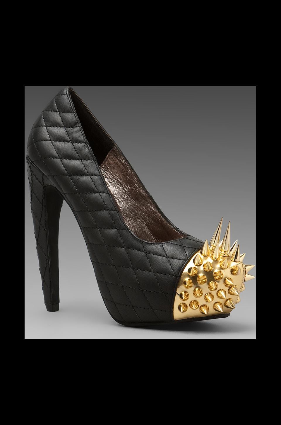 Jeffrey Campbell Battle Spike in Black/Gold
