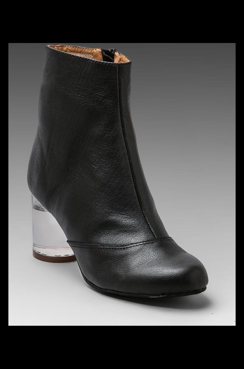 Jeffrey Campbell INTHEMOOD in Black Leather/Clear Heel