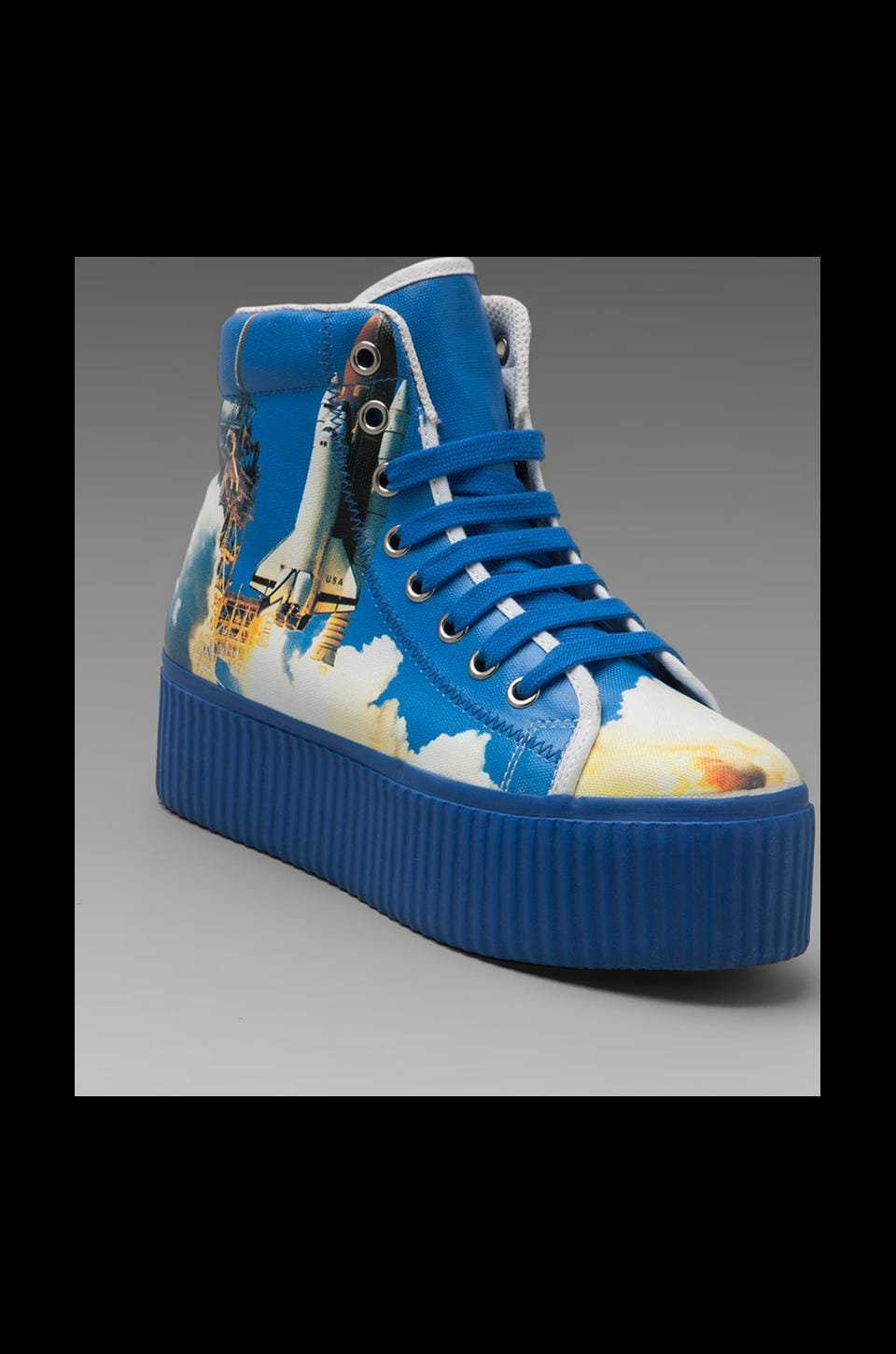 Jeffrey Campbell Hiya Hi-Top Sneaker in Shuttle