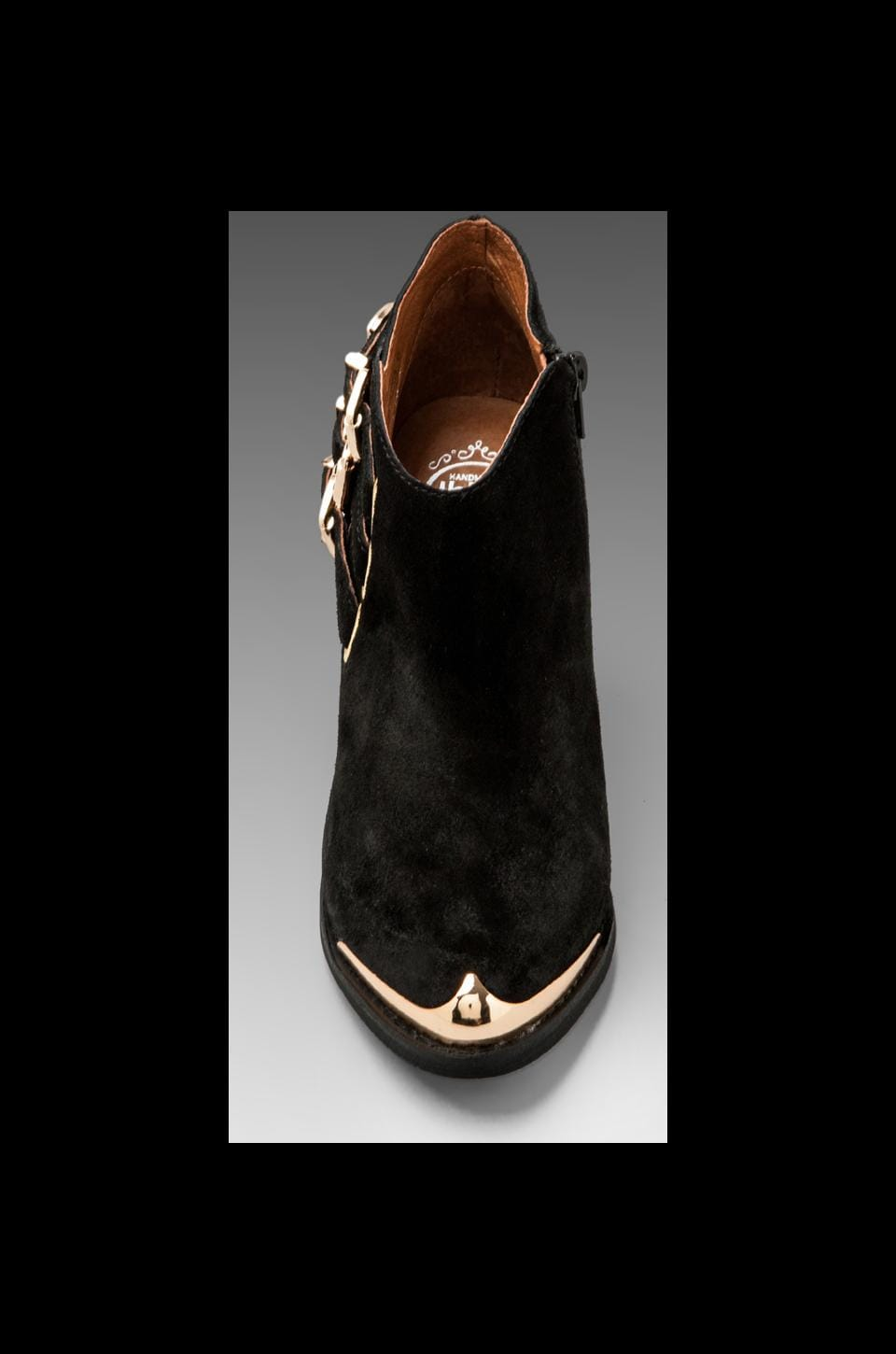 Jeffrey Campbell Westin in Black Suede Gold