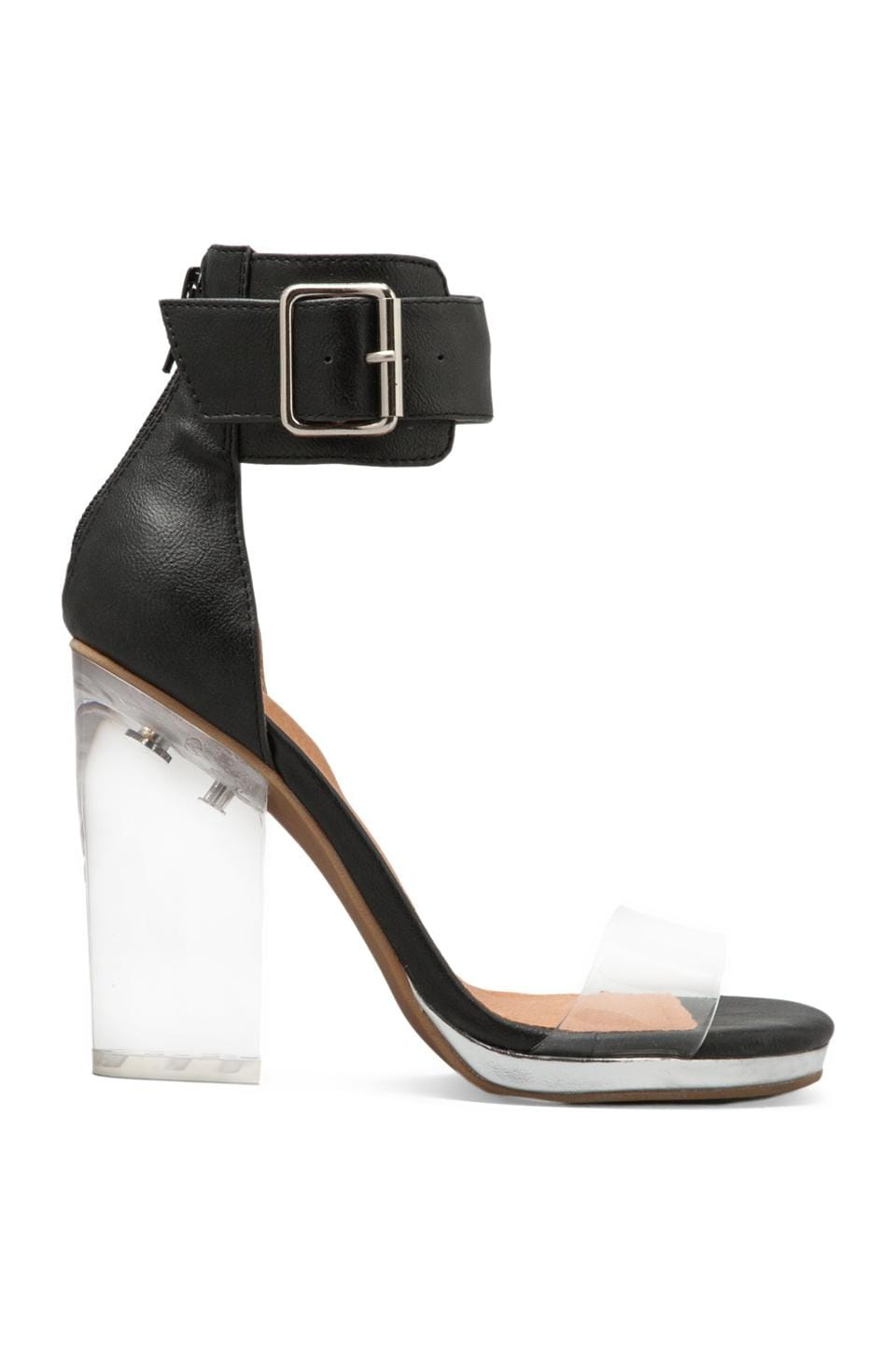Jeffrey Campbell Soiree in Black Clear Silver