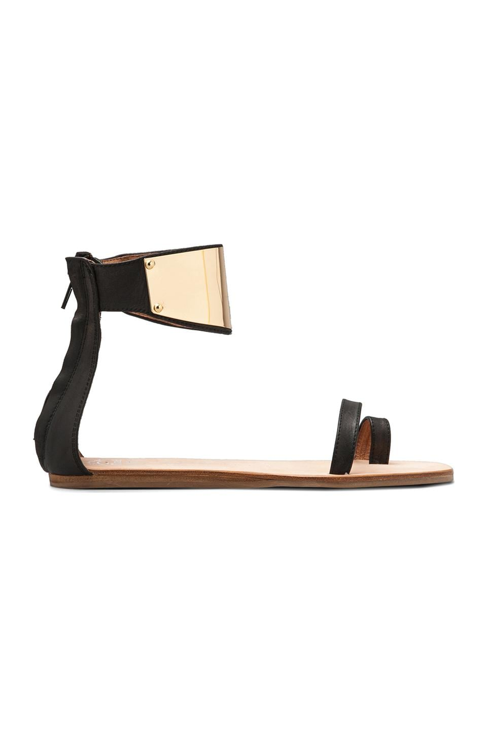 Jeffrey Campbell Limbo in Black Leather Gold