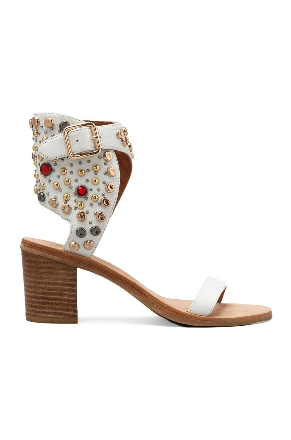 Jeffrey Campbell Sandales Seneca en White Leather Multi
