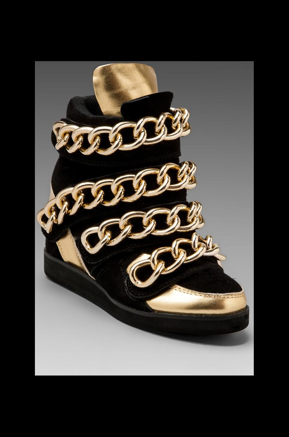 Jeffrey Campbell Almost in Black Suede/Gold