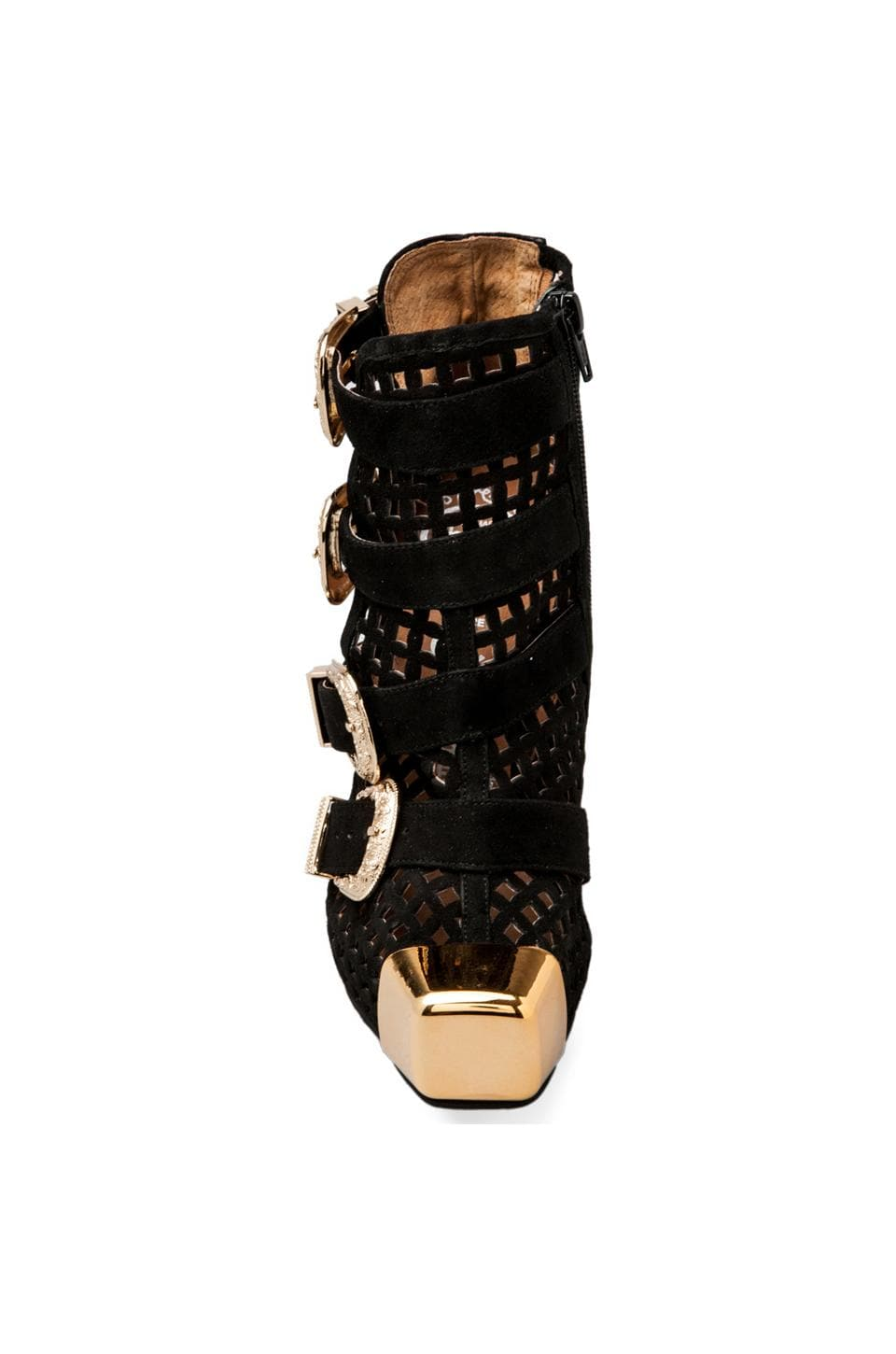 Jeffrey Campbell Charisma in Black Suede Perf/Gold