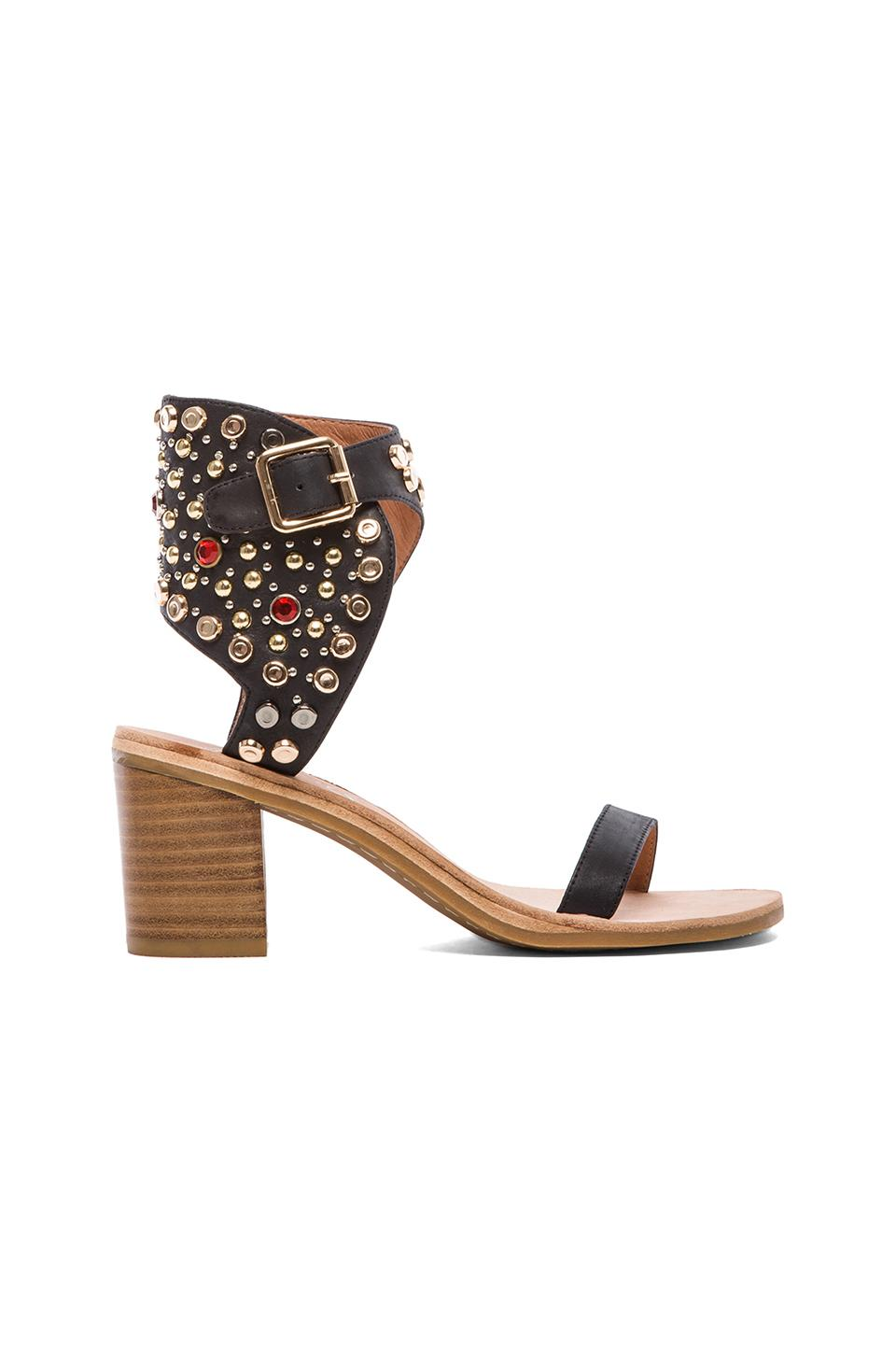 Jeffrey Campbell Seneca in Black Leather Multi