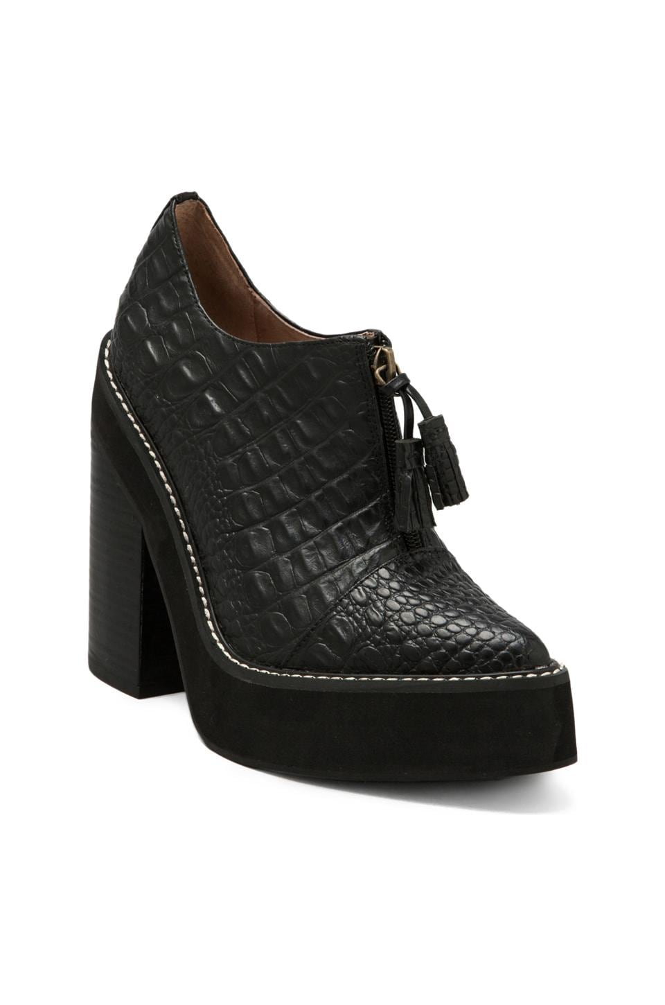 Jeffrey Campbell Fink in Black Croc