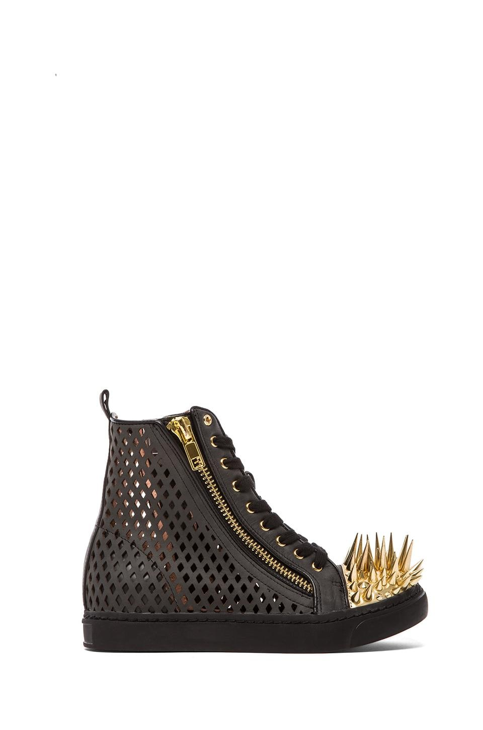 Jeffrey Campbell Adams Spike in Black Perf/Gold