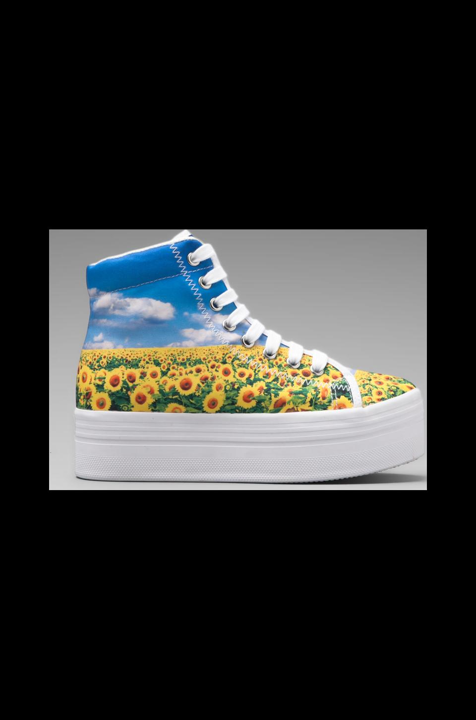 Jeffrey Campbell Homg Hi-Top Sneaker in Sunflowers