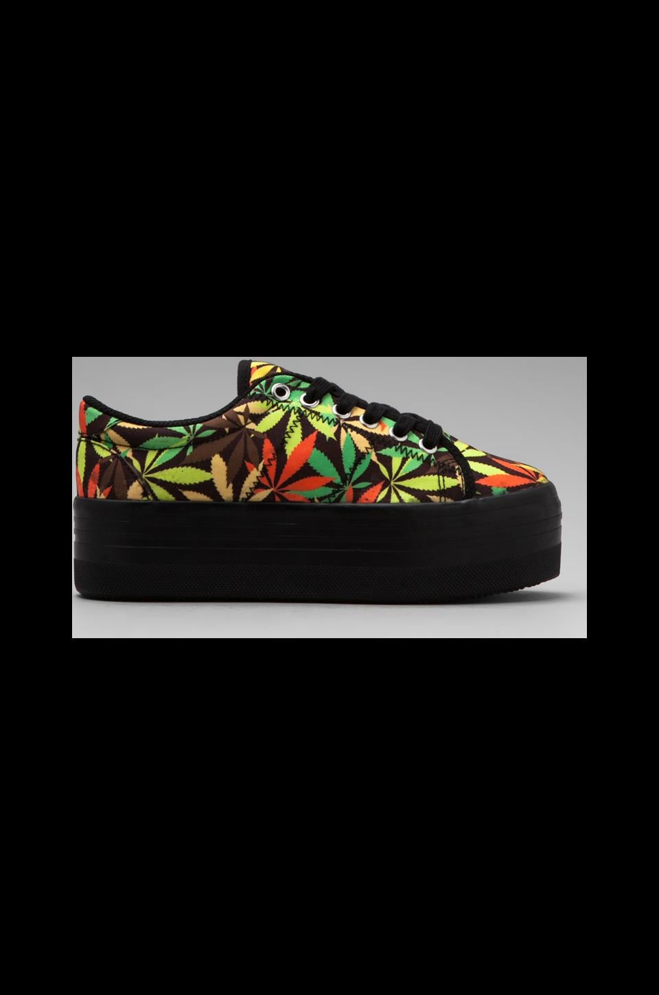 Jeffrey Campbell Platform Sneakers in Leaves