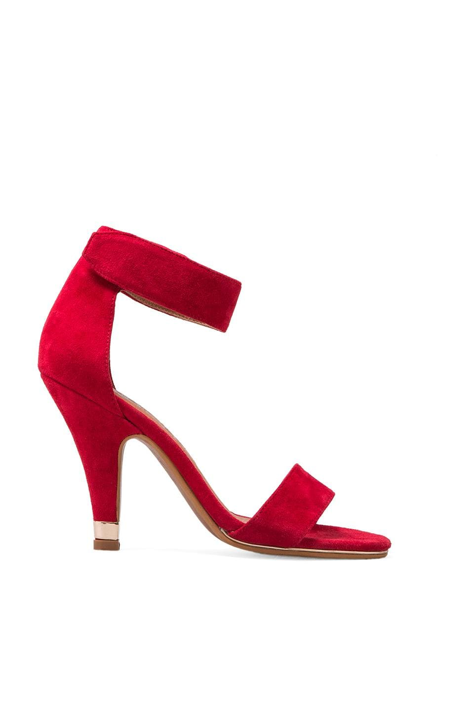 Jeffrey Campbell Charvet Suede Pump in Red