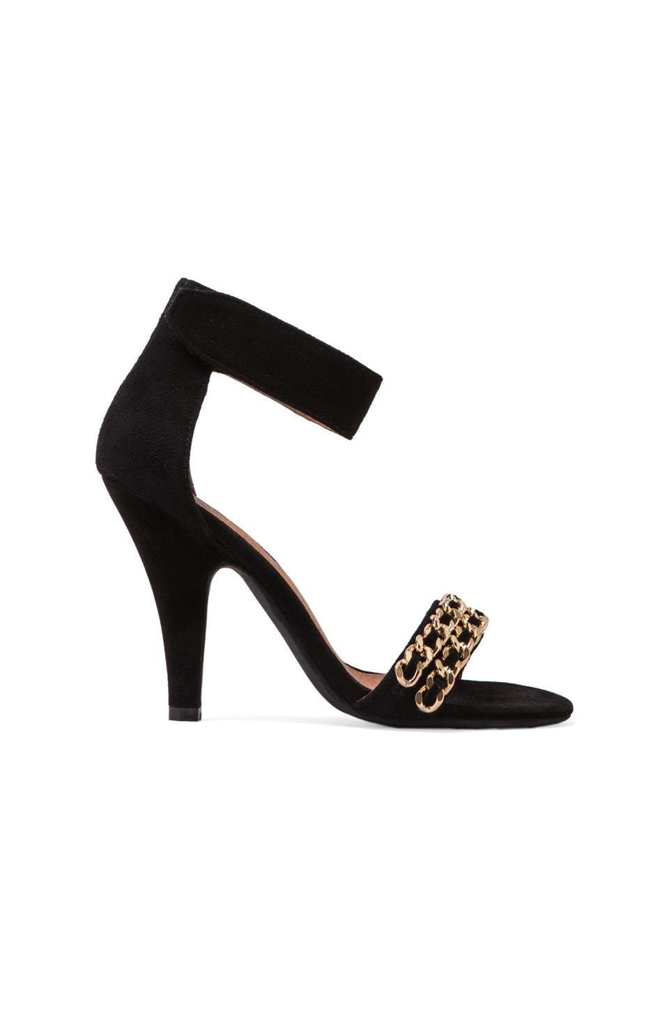 Jeffrey Campbell Hough Suede Embellished Heel in Black/Gold
