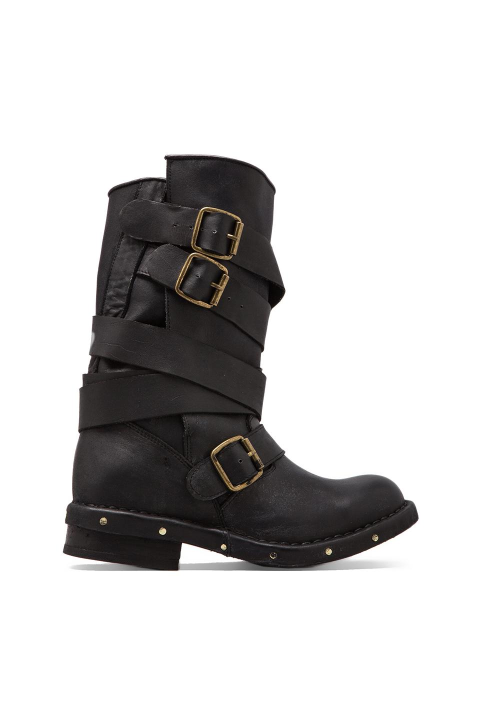 Jeffrey Campbell Brit Leather Moto Boot in Black