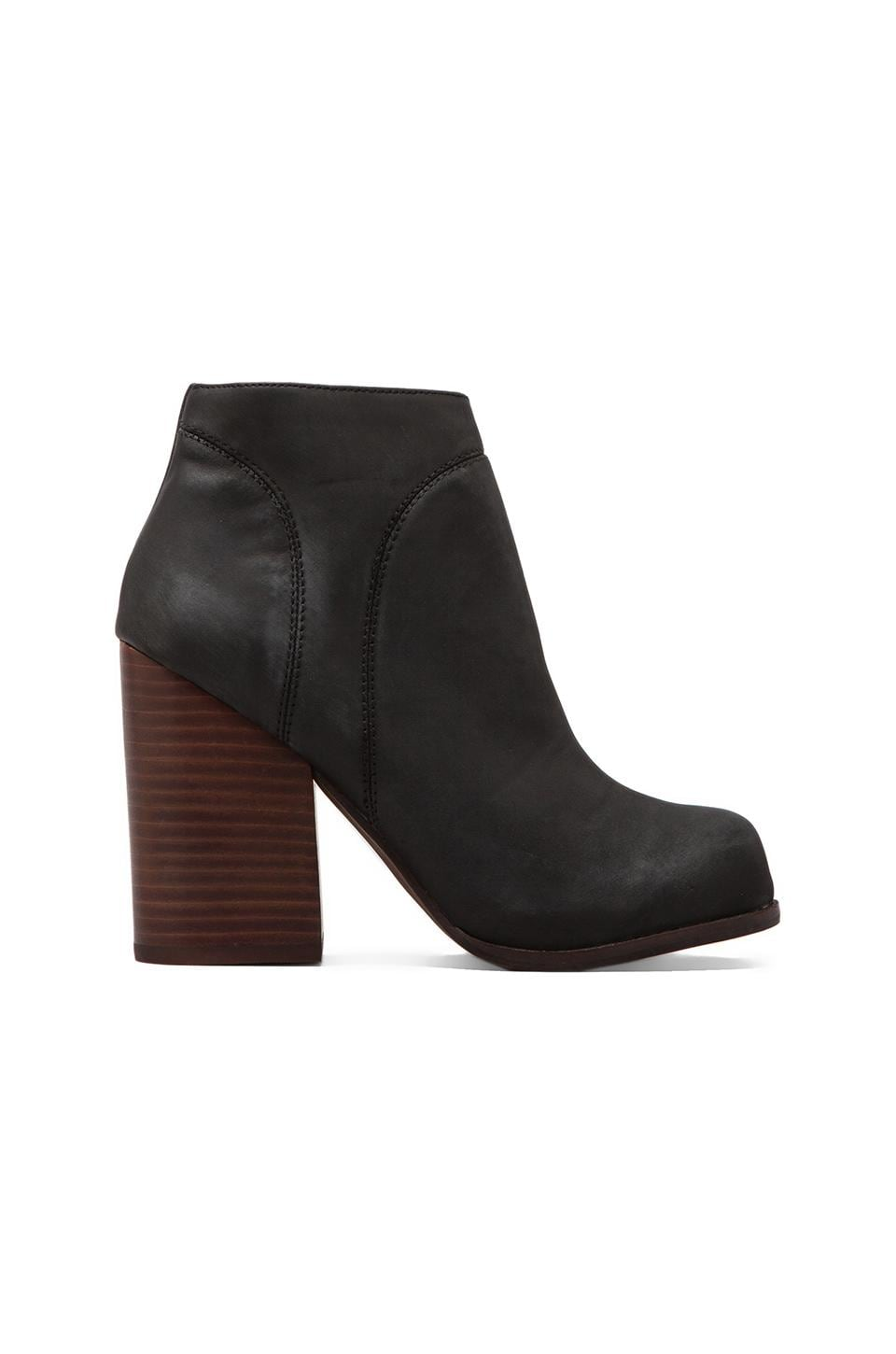 Jeffrey Campbell Hanger Leather Boot in Black/Brown Heel