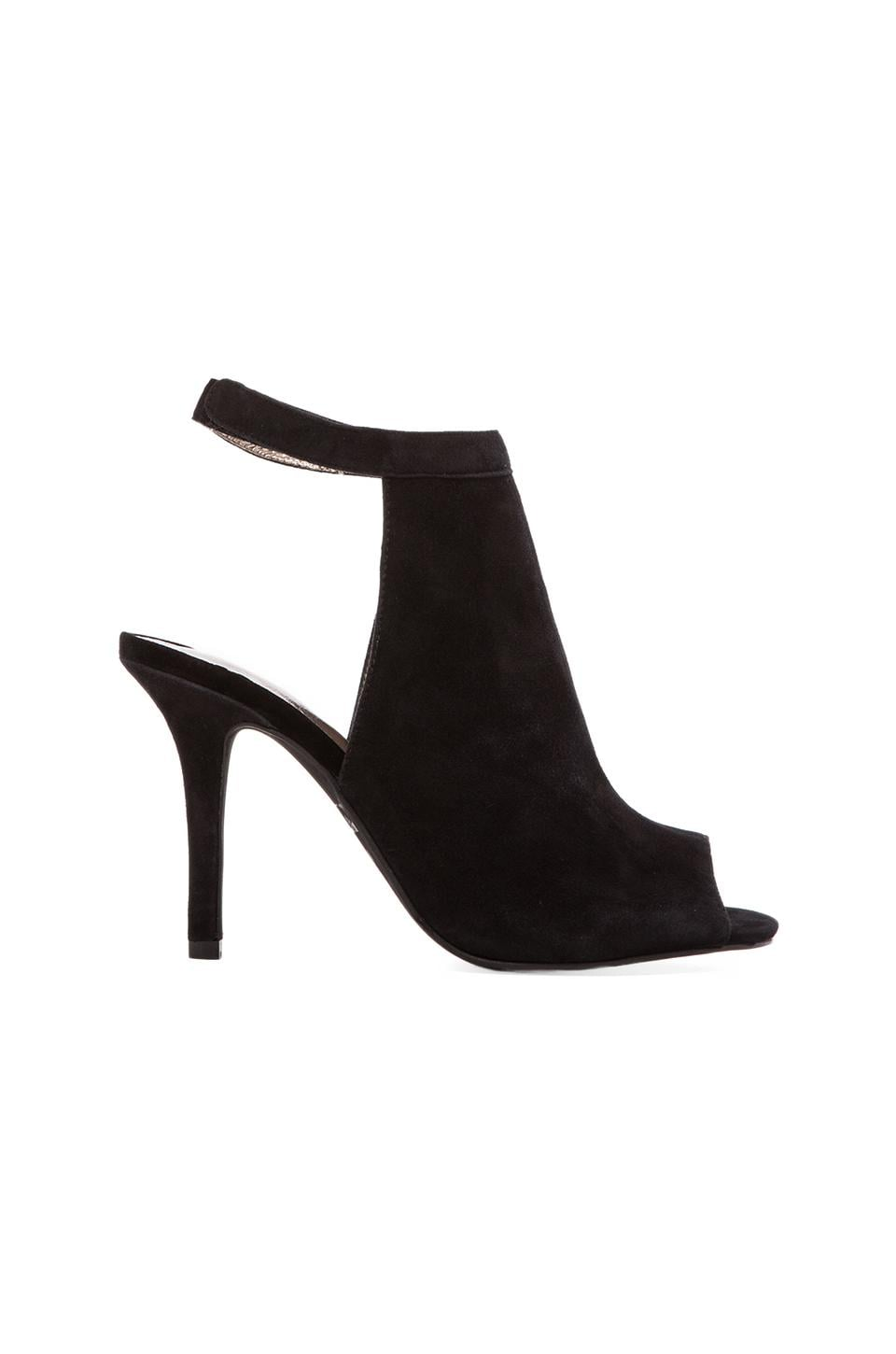 Jeffrey Campbell Lorah Open Toe Bootie in Black Suede
