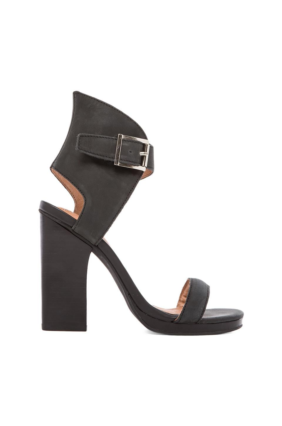 Jeffrey Campbell Shindig Heel in Black Washed Leather
