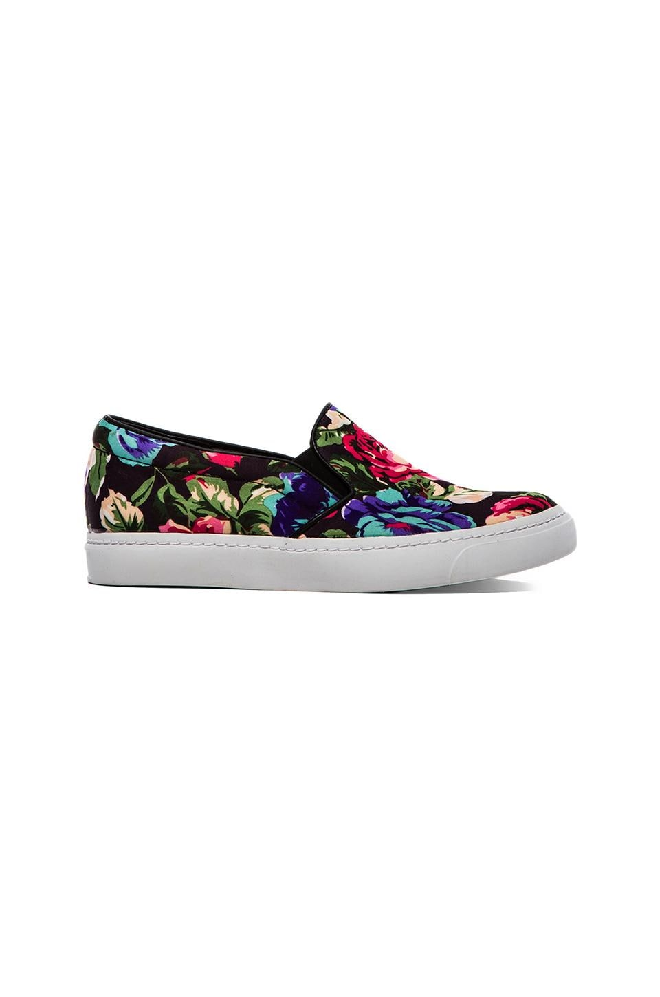 Jeffrey Campbell Alva Sneaker in Blue & Black Floral